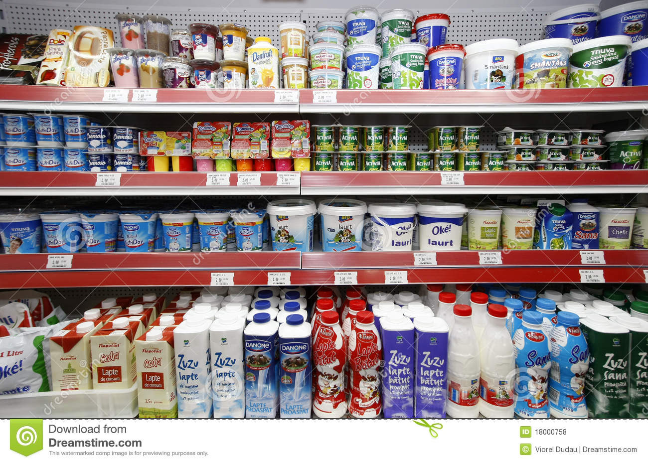 Milk Products On Shelves Editorial Stock Photo Image Of Mall - 18000758