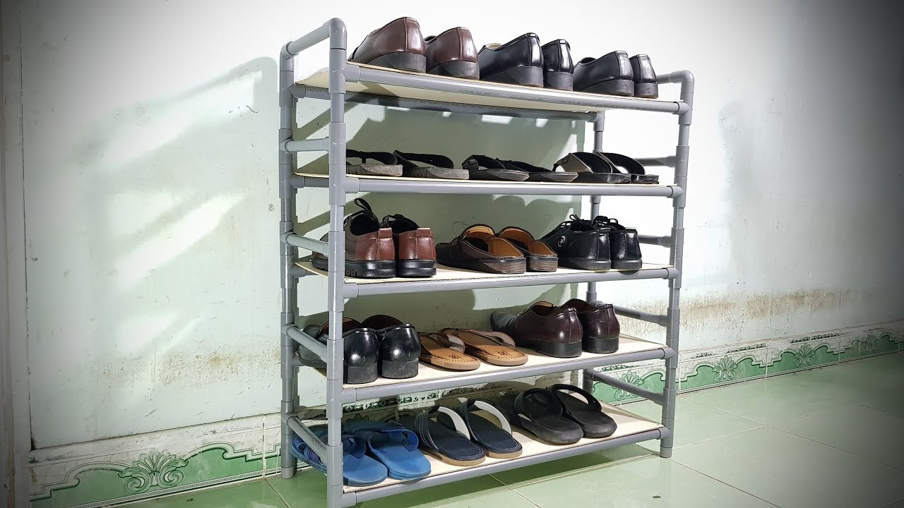 How To Make Shelves For Shoes Using Pvc Pipe
