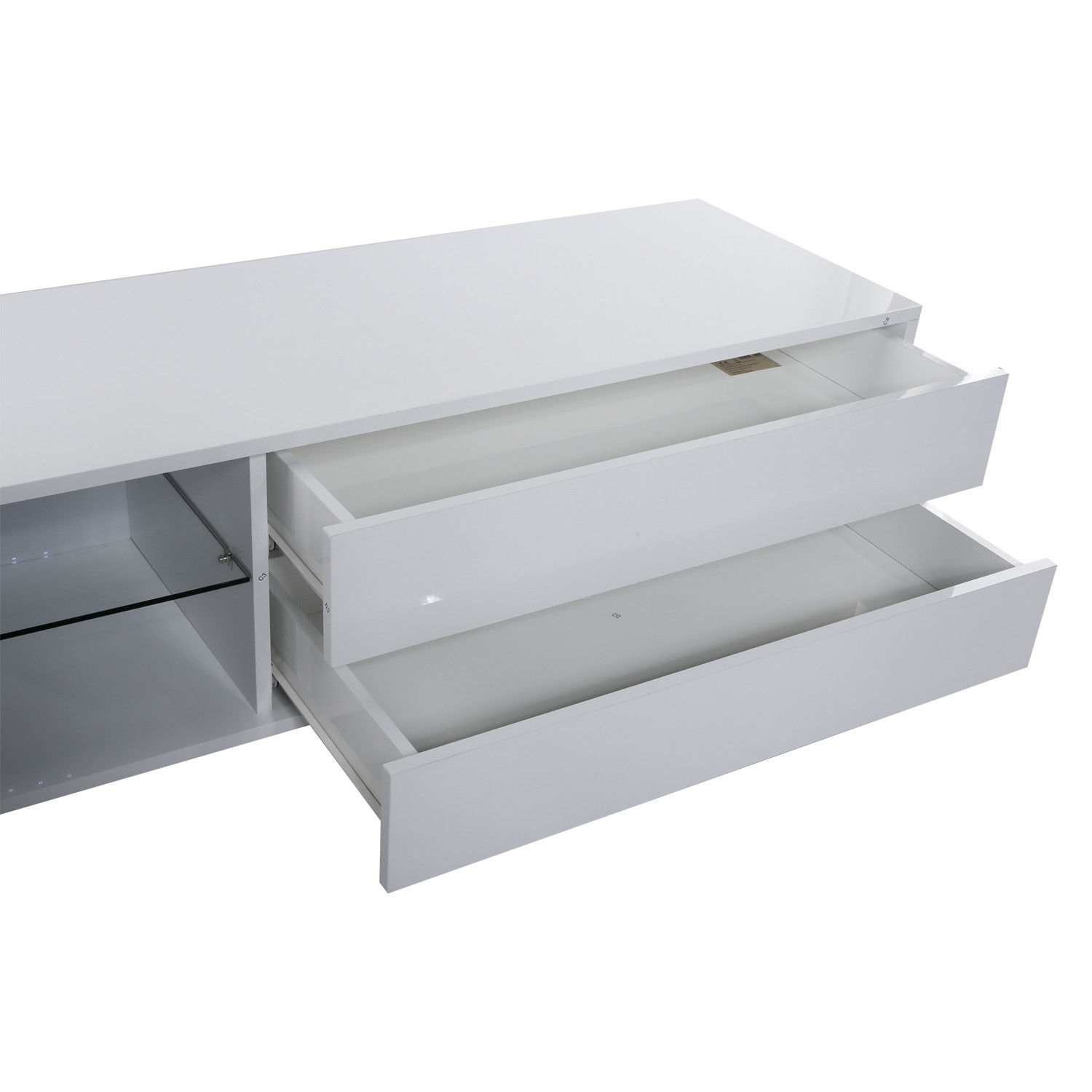 Details About Led Light Shelves Drawer High Gloss Tv Cabinet Stand Wall  Mounted