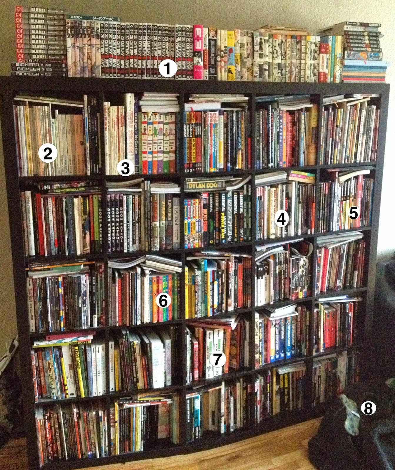 Comic Book Shelves And Racks - Lovequilts