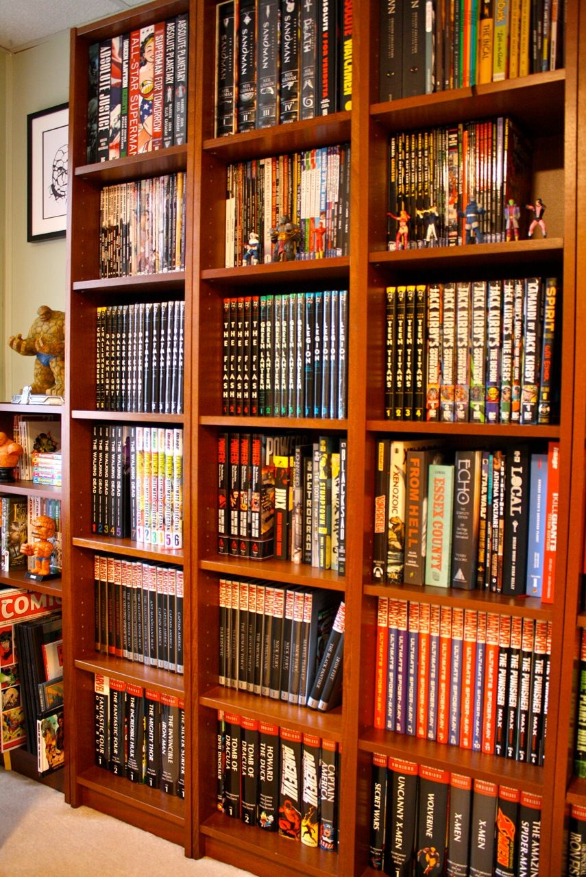 Shelves For Comic Cave | Storage Ideas In 2019 Ic Book Rooms