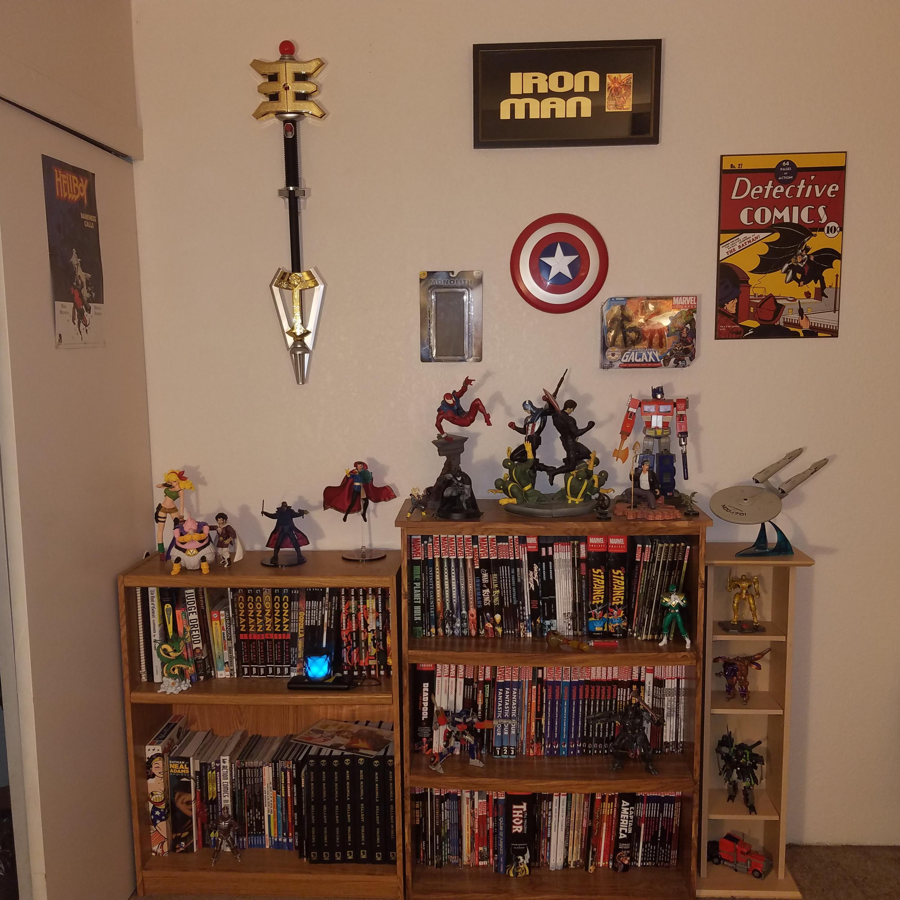 My Comic Shelves / Reading Nook My Chair Is Normally Next To The