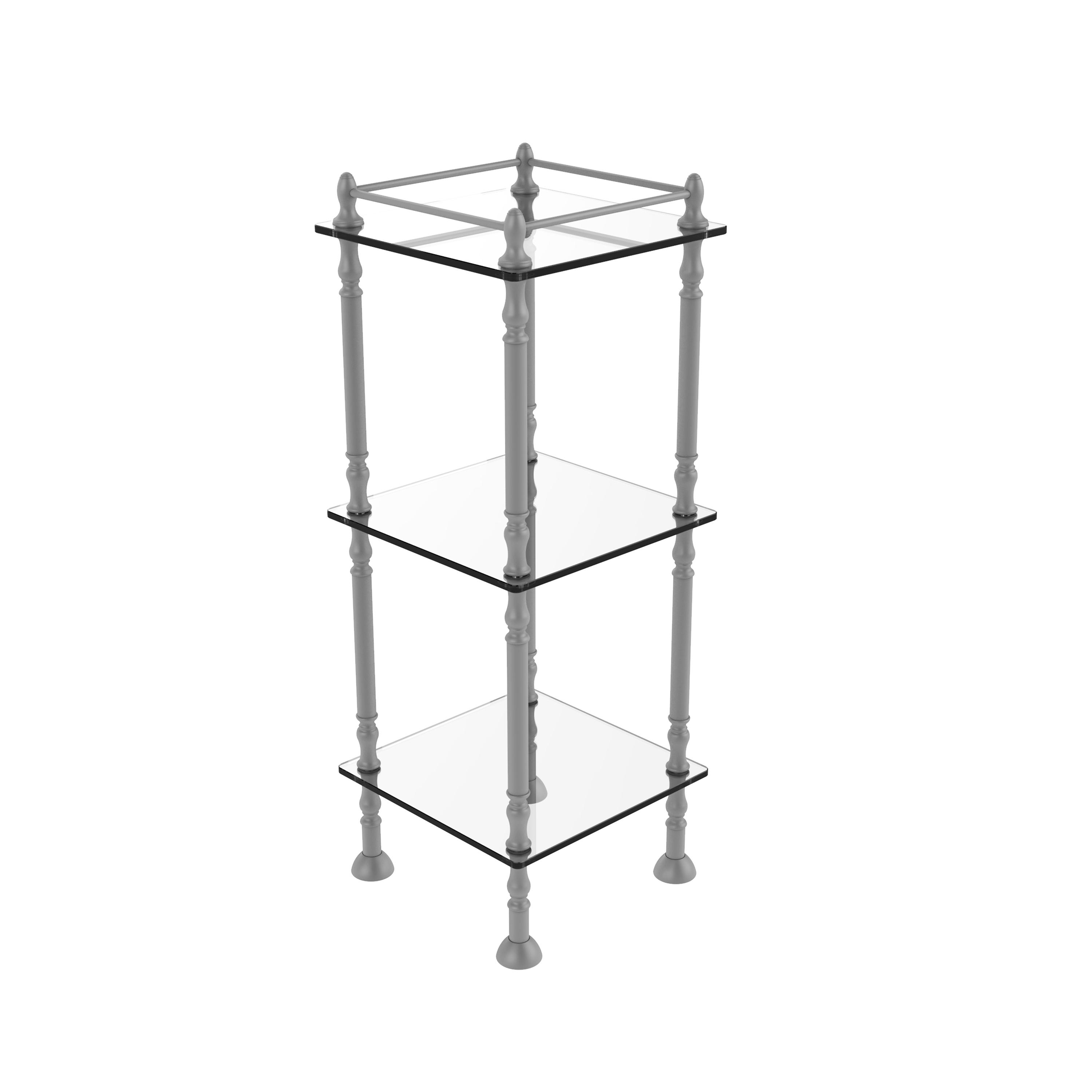 Three Tier Etagere With 14 Inch X 14 Inch Shelves - Et-14x143tgl-gym