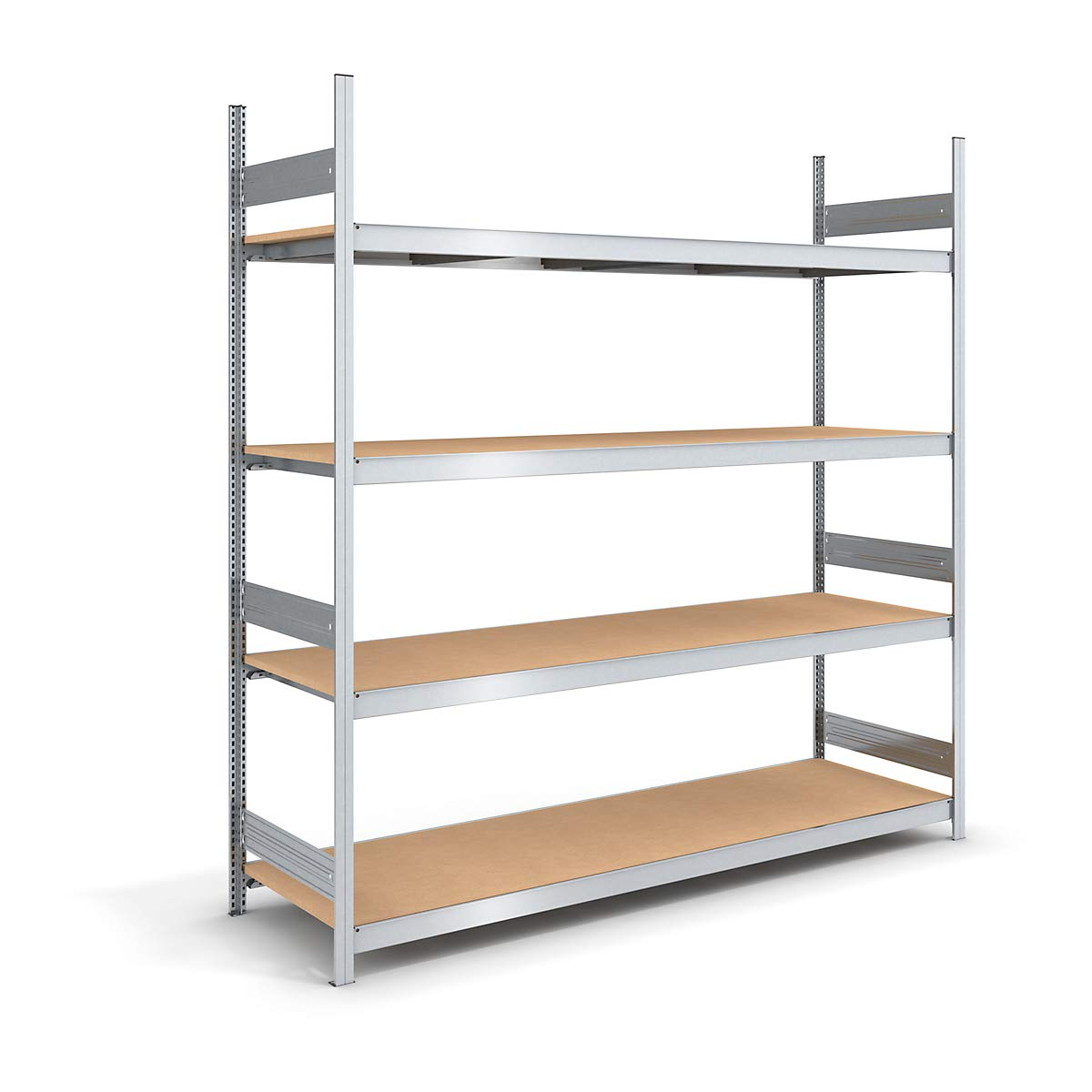 Stacking Shelf Wide With Shelves - Chipboard 2500 Mm, Width 2250 (2