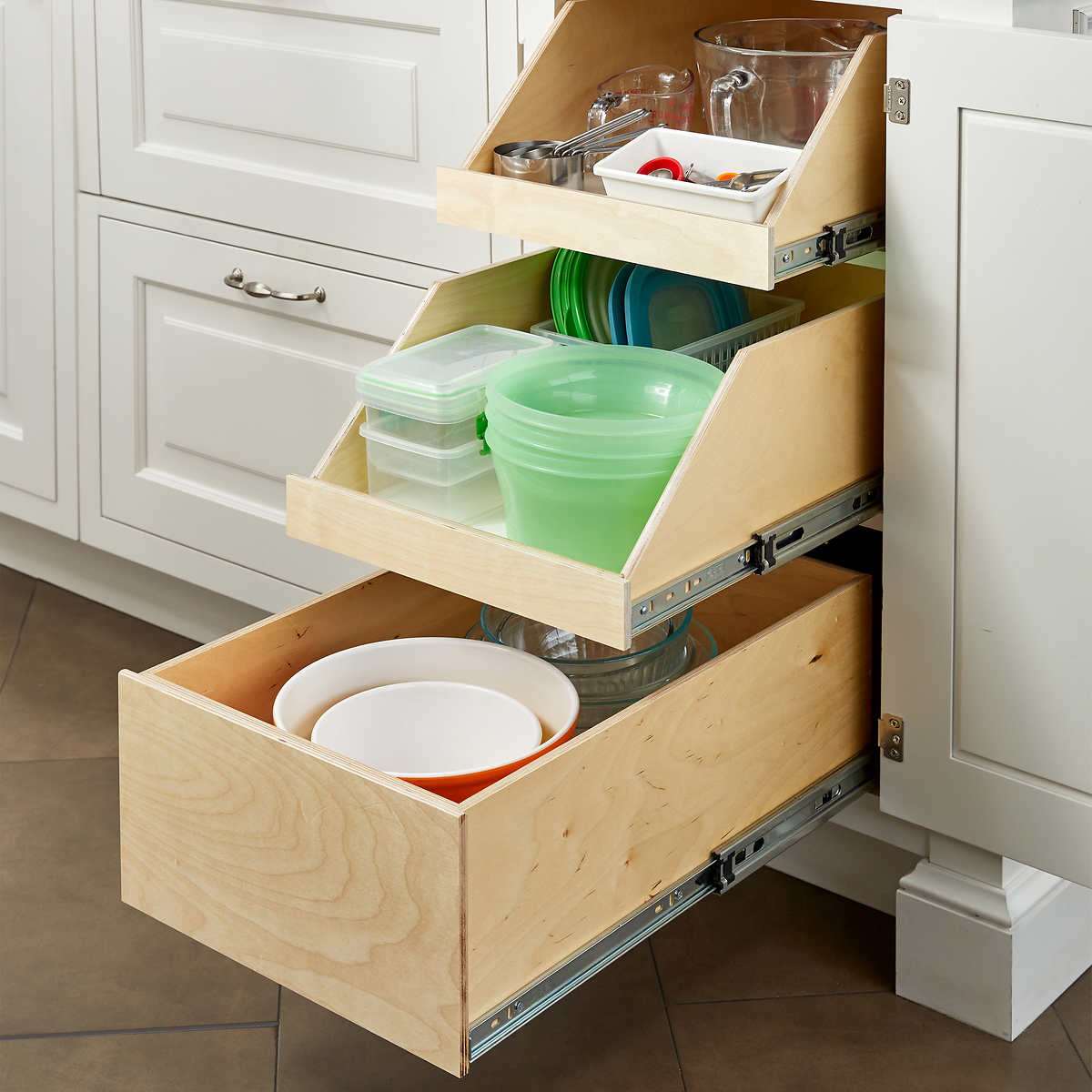 Made-to-fit Specialty Slide-out Shelves For Existing Cabinets By  Slide-a-shelf