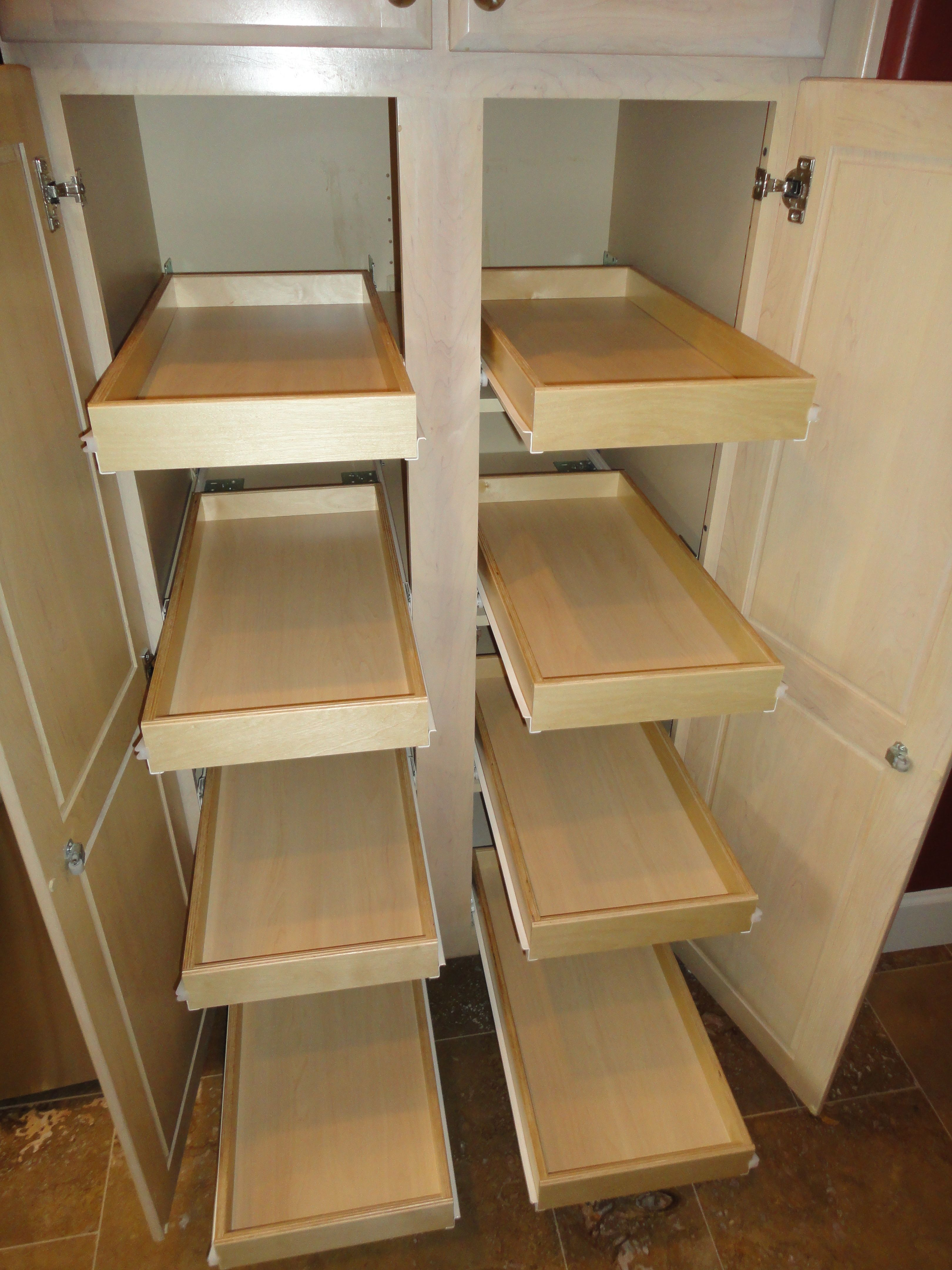 8 Slide Out Shelves Added To Pantry Cabinet | Oh Michele In 2019