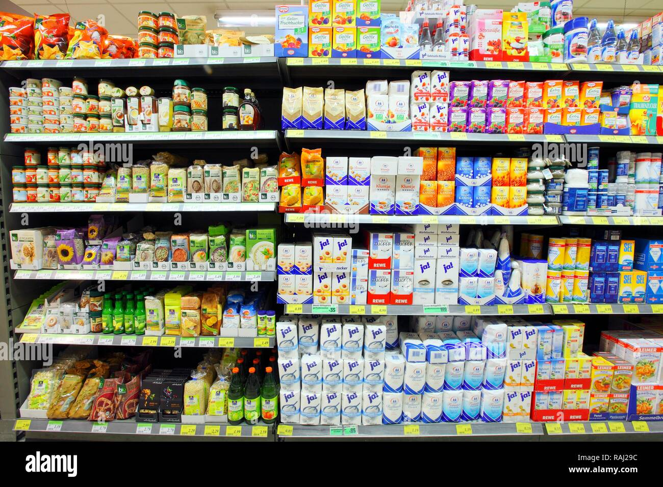 Shelves With Sugar And Artificial Sweeteners, Self-service, Food