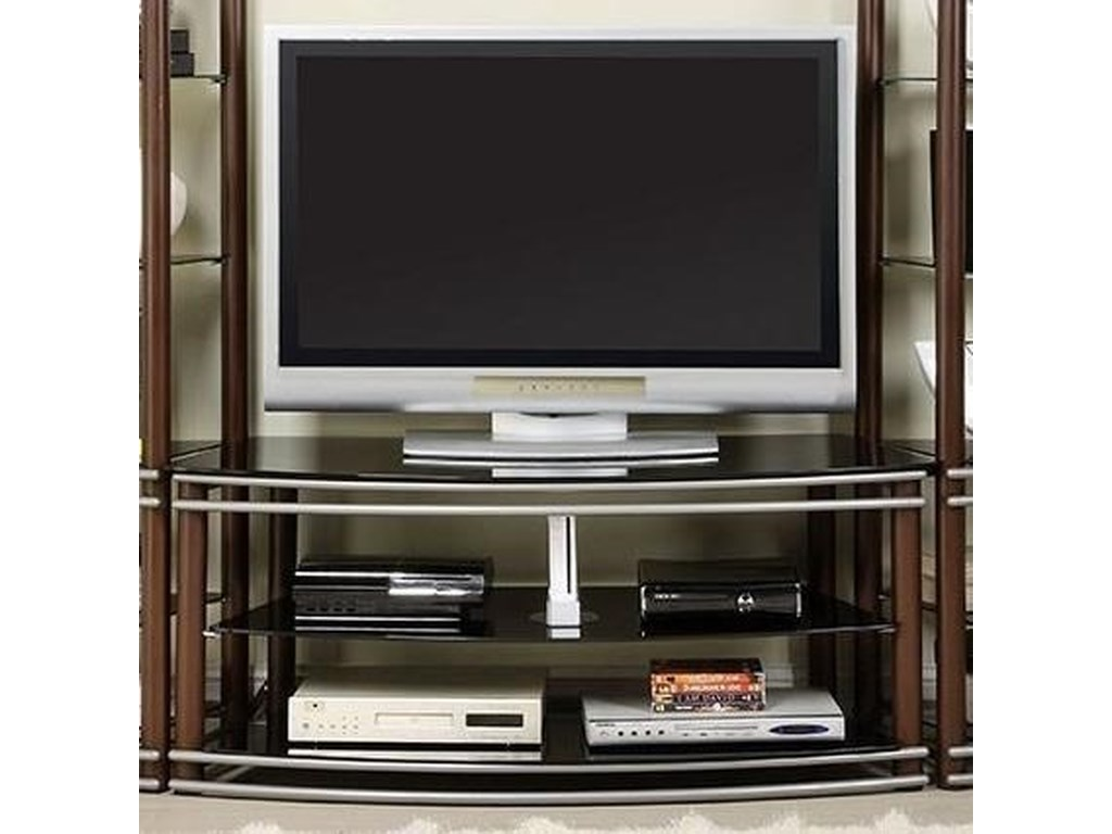 Silver Creek Contemporary Tv Console With 2 Shelves By Furniture Of America  At Rooms For Less