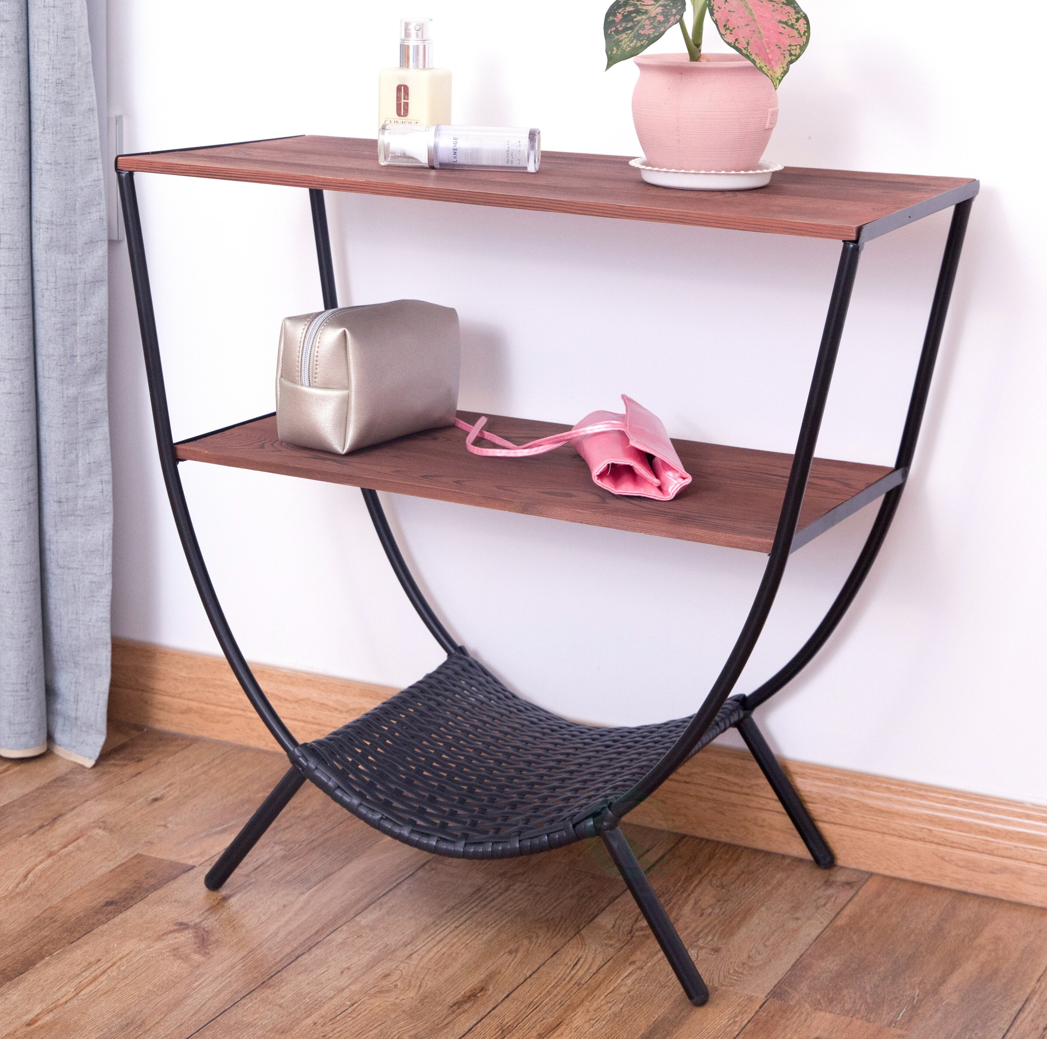 Stamper Console Table With 3 Shelves
