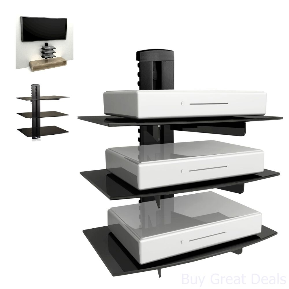 Details About Floating Shelf Wall Mount Tv Accessory Shelves Dvd Cable Box  Gaming Console New