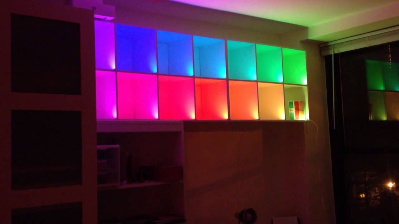 Color Changing Box Shelves With Led-strips And Arduino: 5 Steps