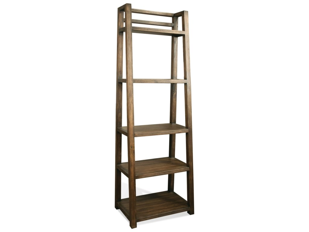 Perspectives Leaning Bookcase With 5 Shelves By Riverside Furniture At Dunk  & Bright Furniture
