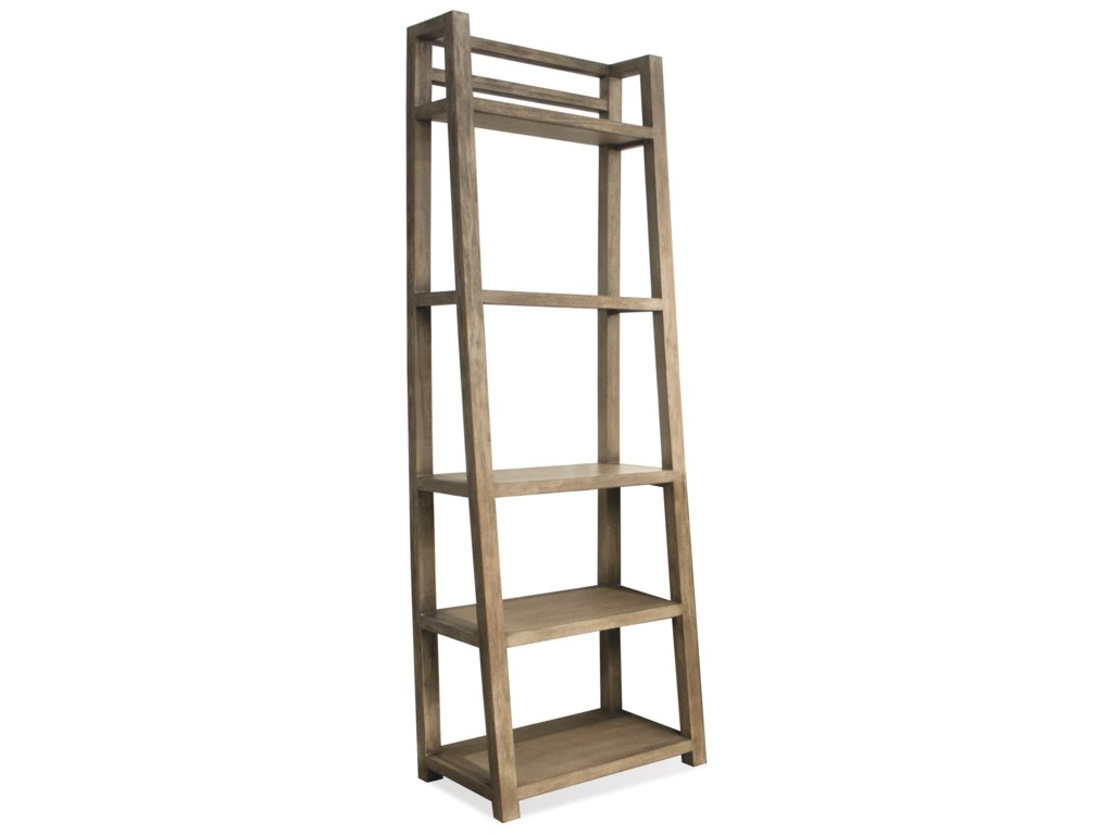 Perspectives Leaning Bookcase With 5 Shelves By Riverside Furniture At  Hudson's Furniture
