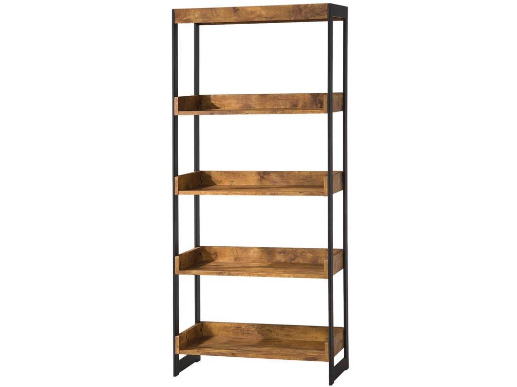 Estrella Industrial Bookcase With 4 Open Shelves By Coaster At Value City  Furniture