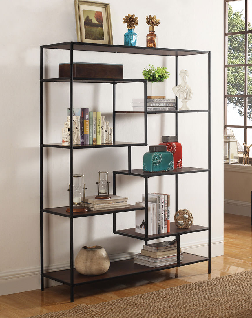 Coaster Modern Bookcase With Offset Shelves