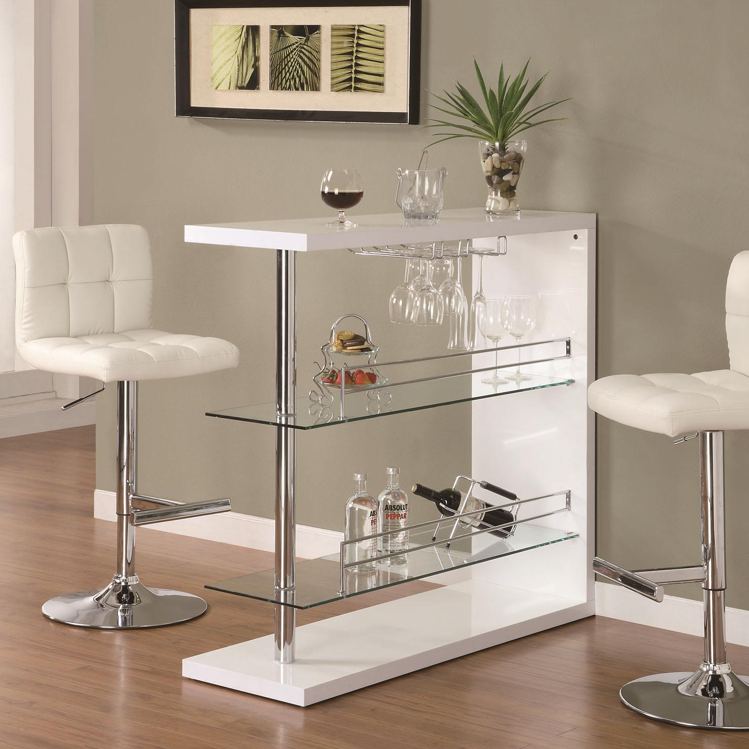 Bar Units And Bar Tables Rectangular Bar Unit With 2 Shelves And Wine  Holder By Coaster At Rooms For Less