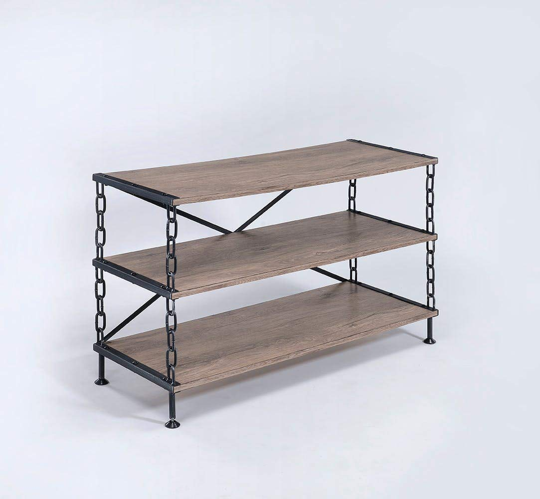 Benzara Bm177710 Wooden Tv Stand With Shelves, Brown