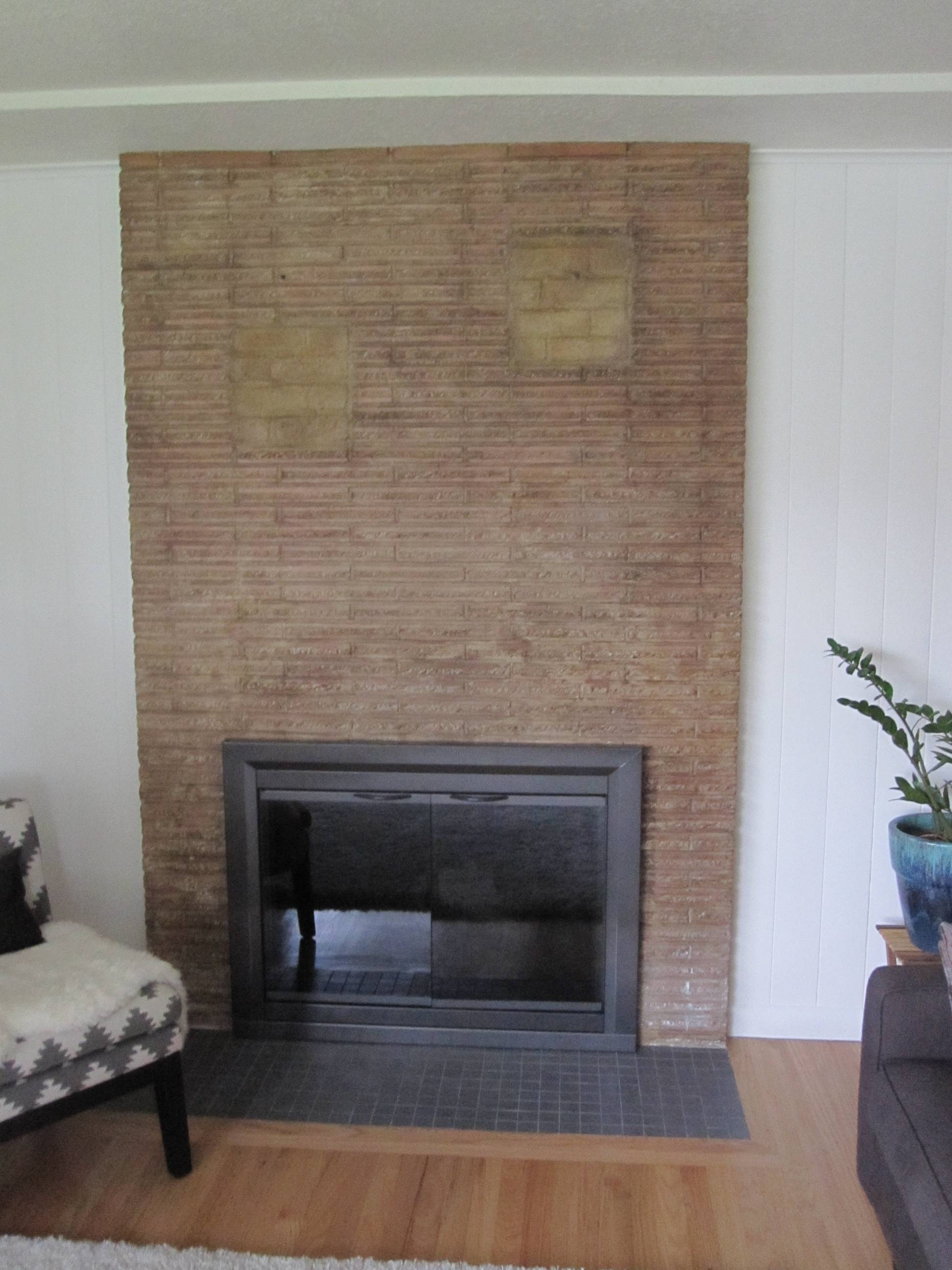 Previous Owner Filled In Fireplace Shelves With Incorrect Brick Can