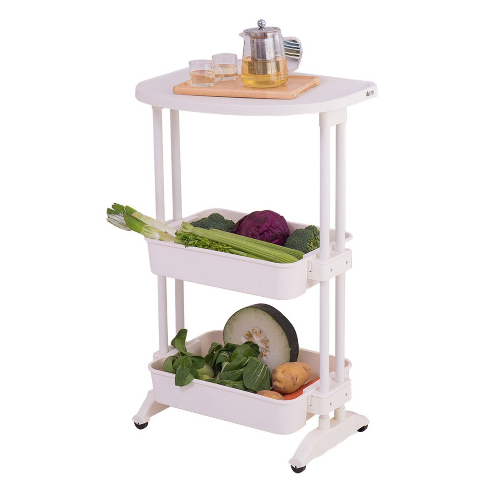 Us $18569  3 Tier Kitchen Service Cart Rolling Storage Shelves Trolley  Cart Spa Storage Trolley Storage Island Dq1512 1-in Racks & Holders From  Home