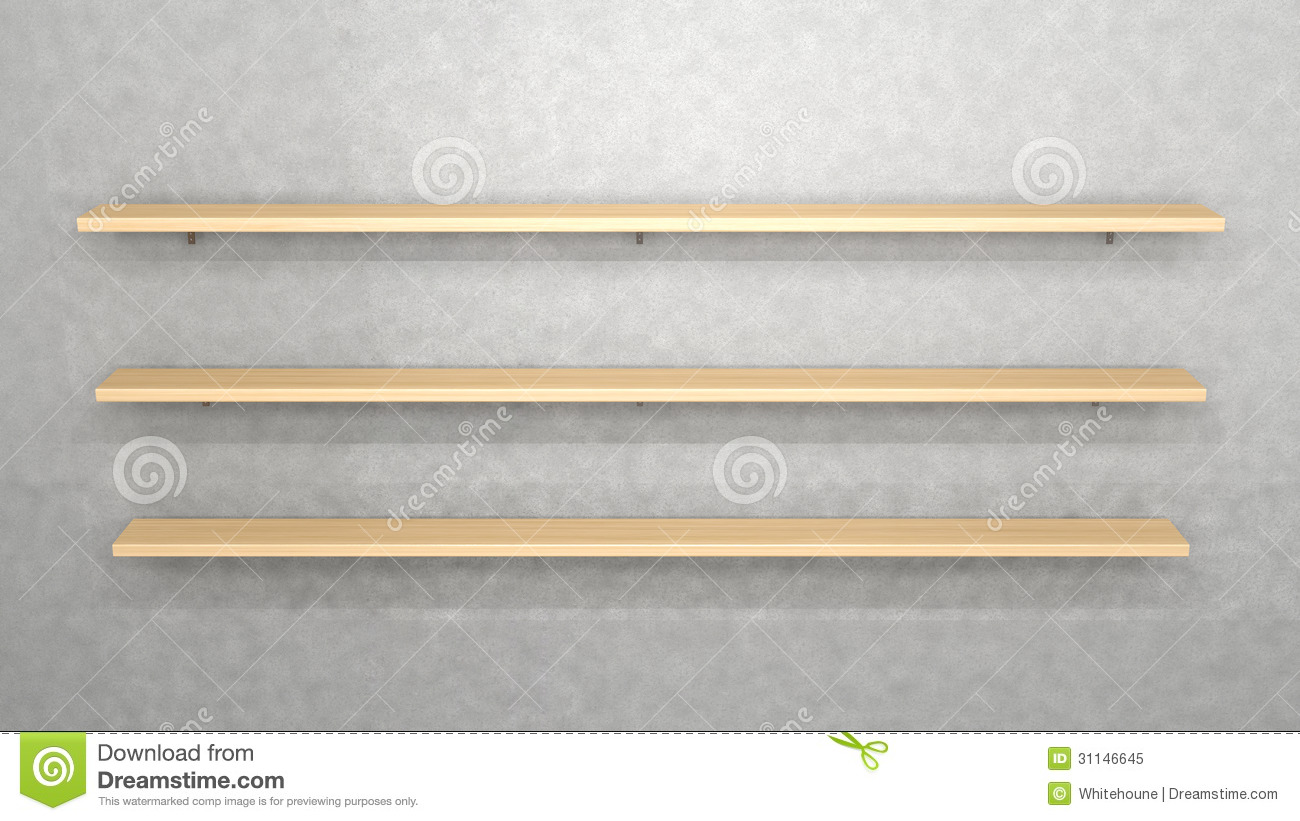 Wall With Shelves Stock Illustration Illustration Of Material