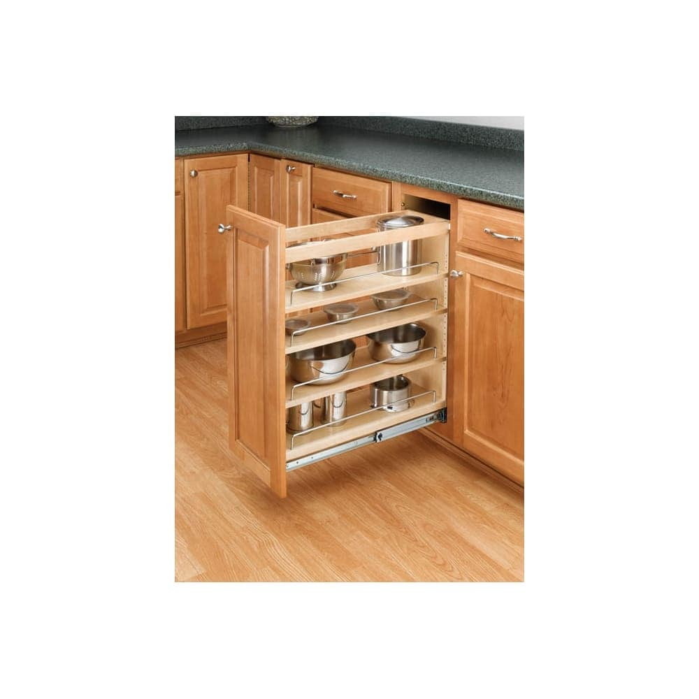 """Rev-a-shelf 448-bc-5c 448 Series 5"""" Wide Base Cabinet Pull Out Shelves -"""