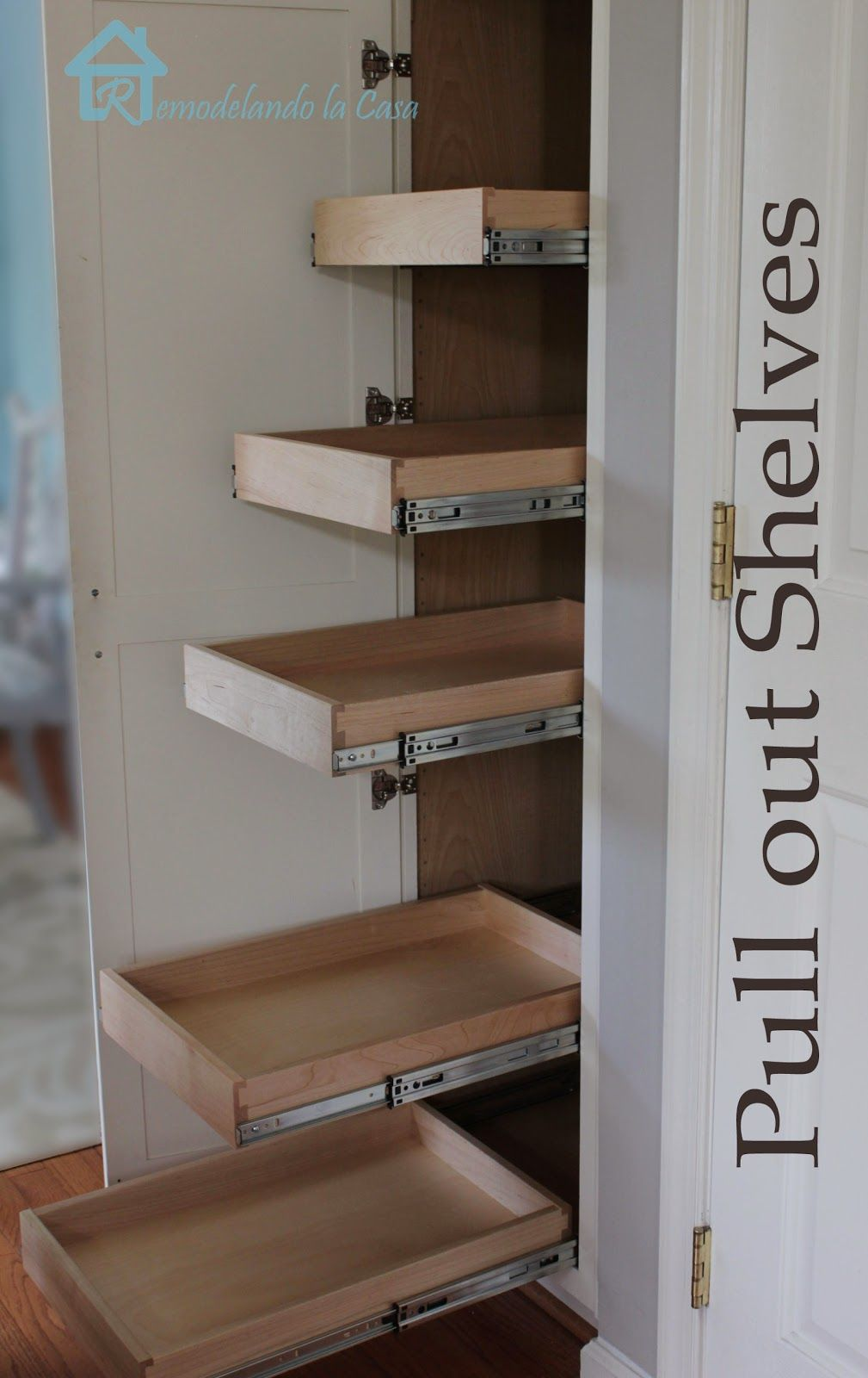 Kitchen Organization - Pull Out Shelves In Pantry In 2019
