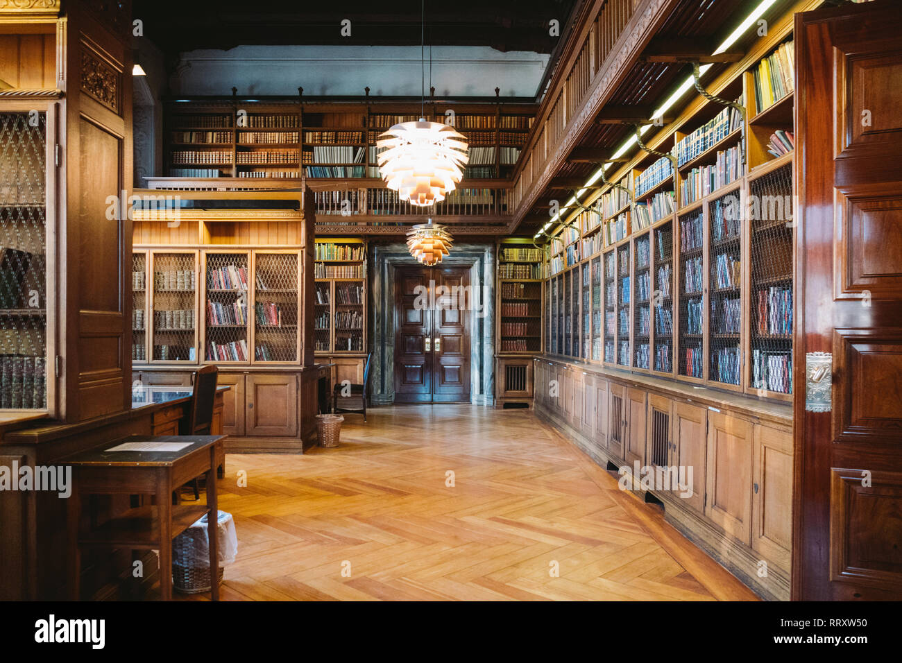 Storage Of Books Large Old Library In The Gothic Style Shelves And