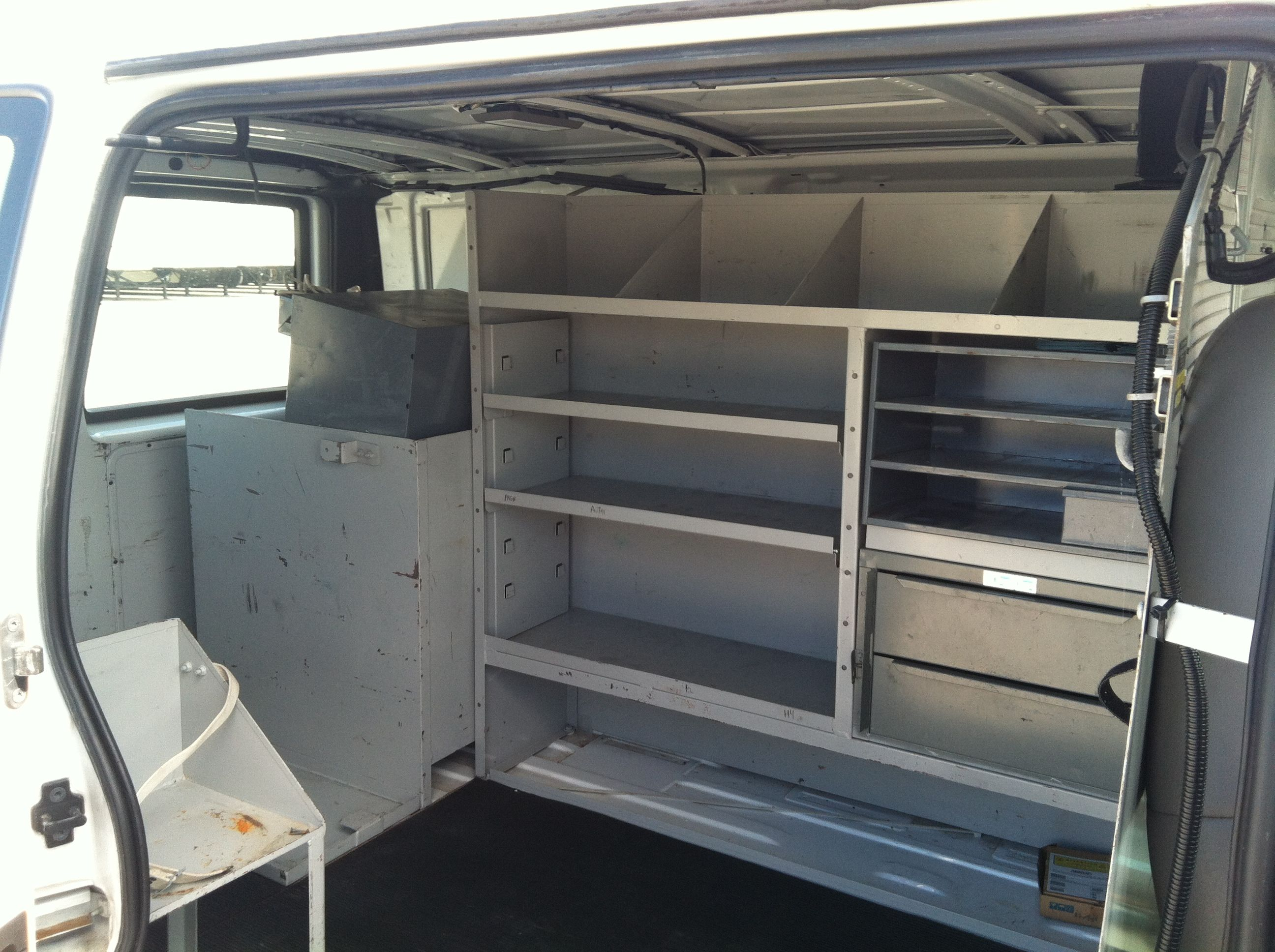 The Aluminum Shelves Will Hold Alot Of Stuff Here!! Living In A