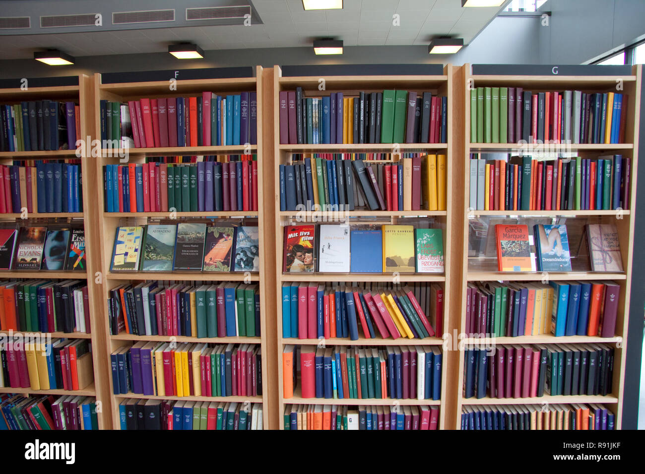 Books On Shelves At A Public Library Stock Photo: 229303299 - Alamy