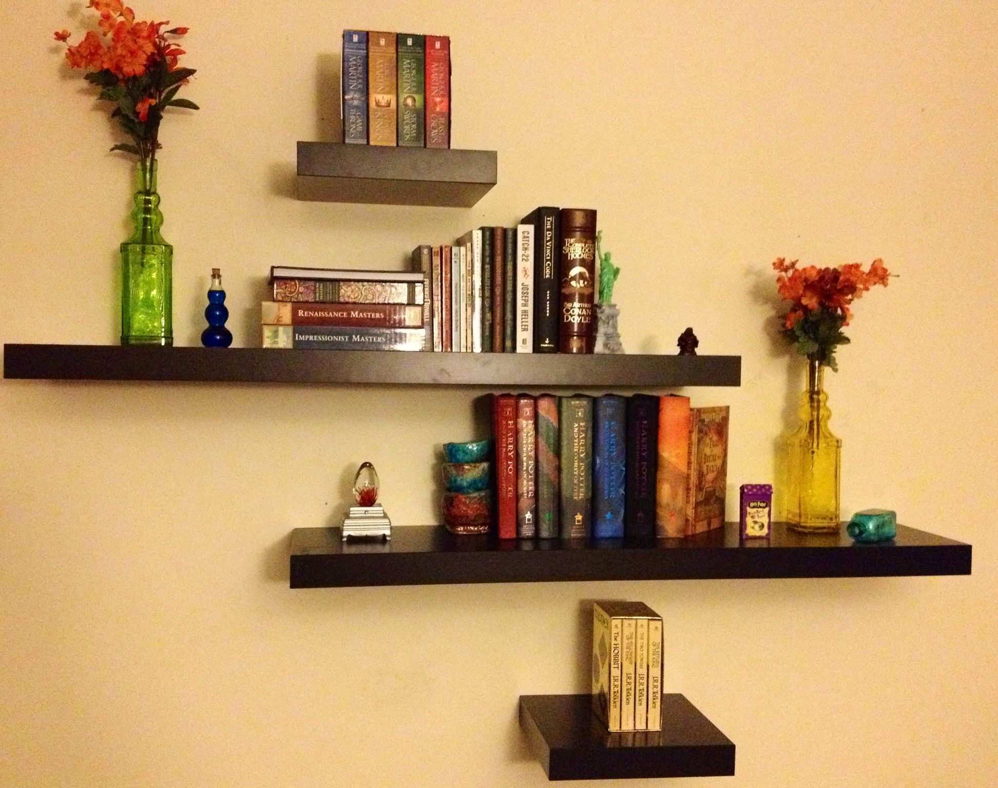 This Is Our Lovely Book Shelves From Ikea! Decorated With Harry