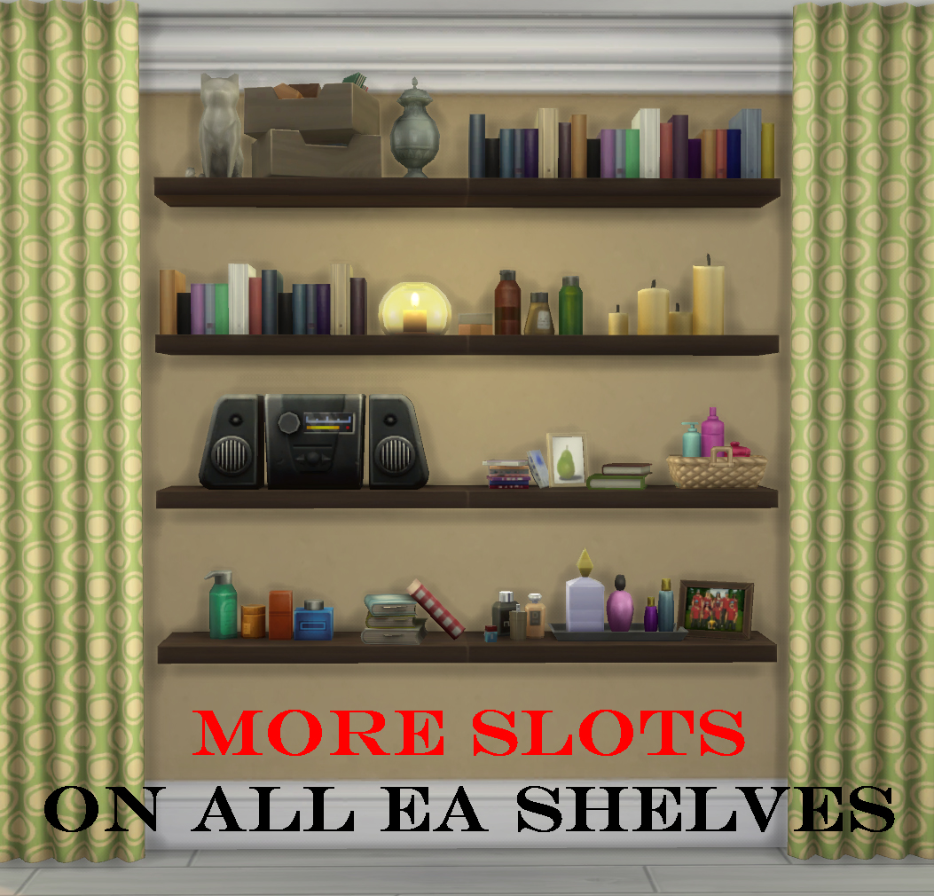 Mod The Sims - More Slots On All Ea Shelves!!!