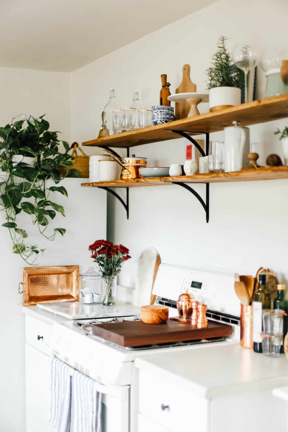 Open Kitchen Shelves For Under $100 - College Housewife