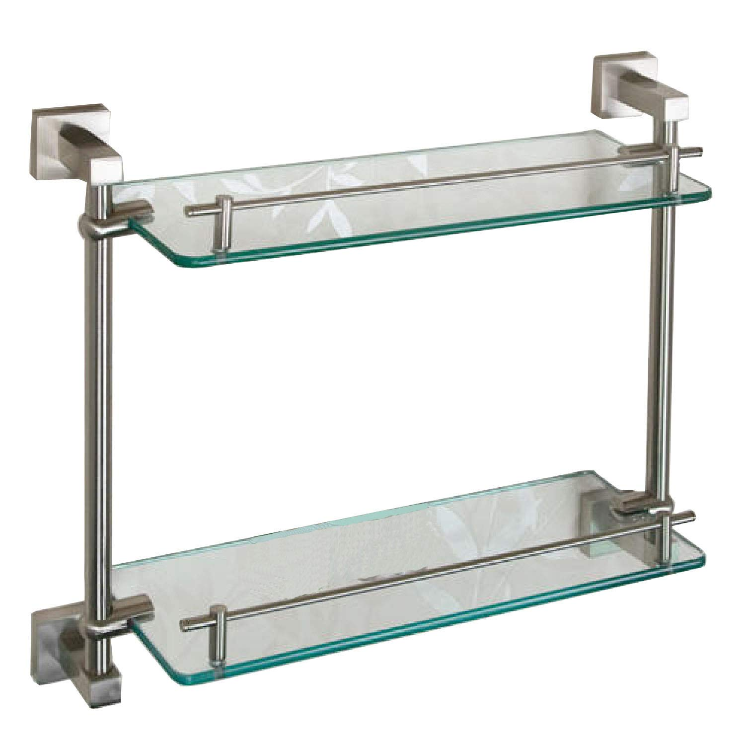 Naiture Tempered Glass Shelf - Two Shelves In Brushed