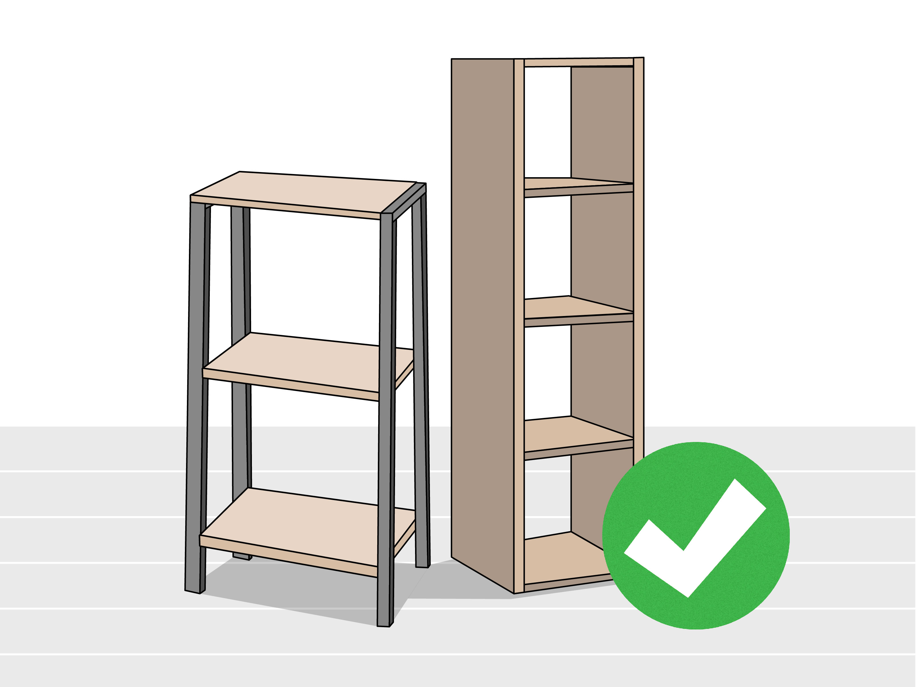 How To Hang Shelves Without Nails: 11 Steps (with Pictures)