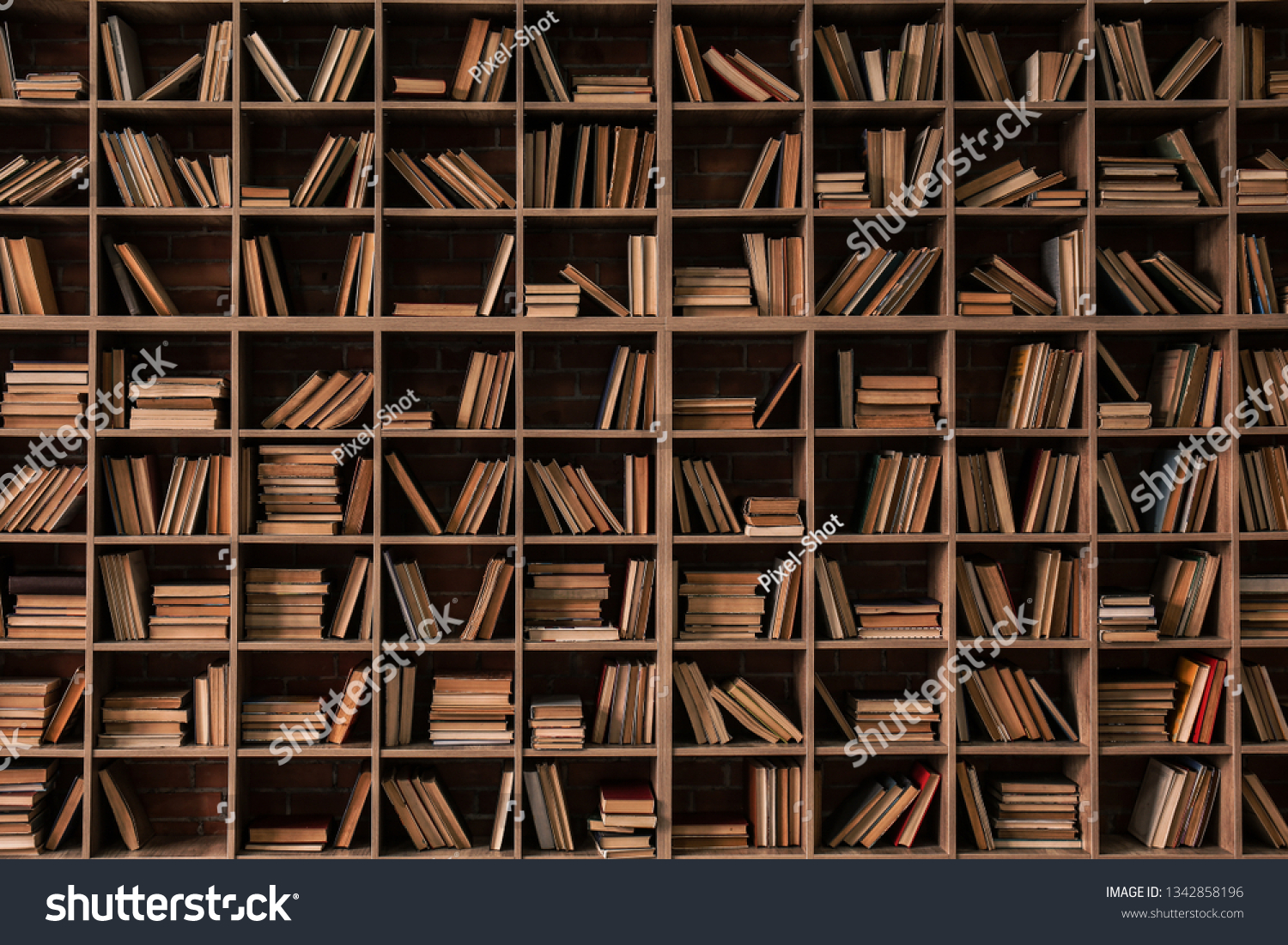 Books On Shelves Library Stock Photo (edit Now) 1342858196