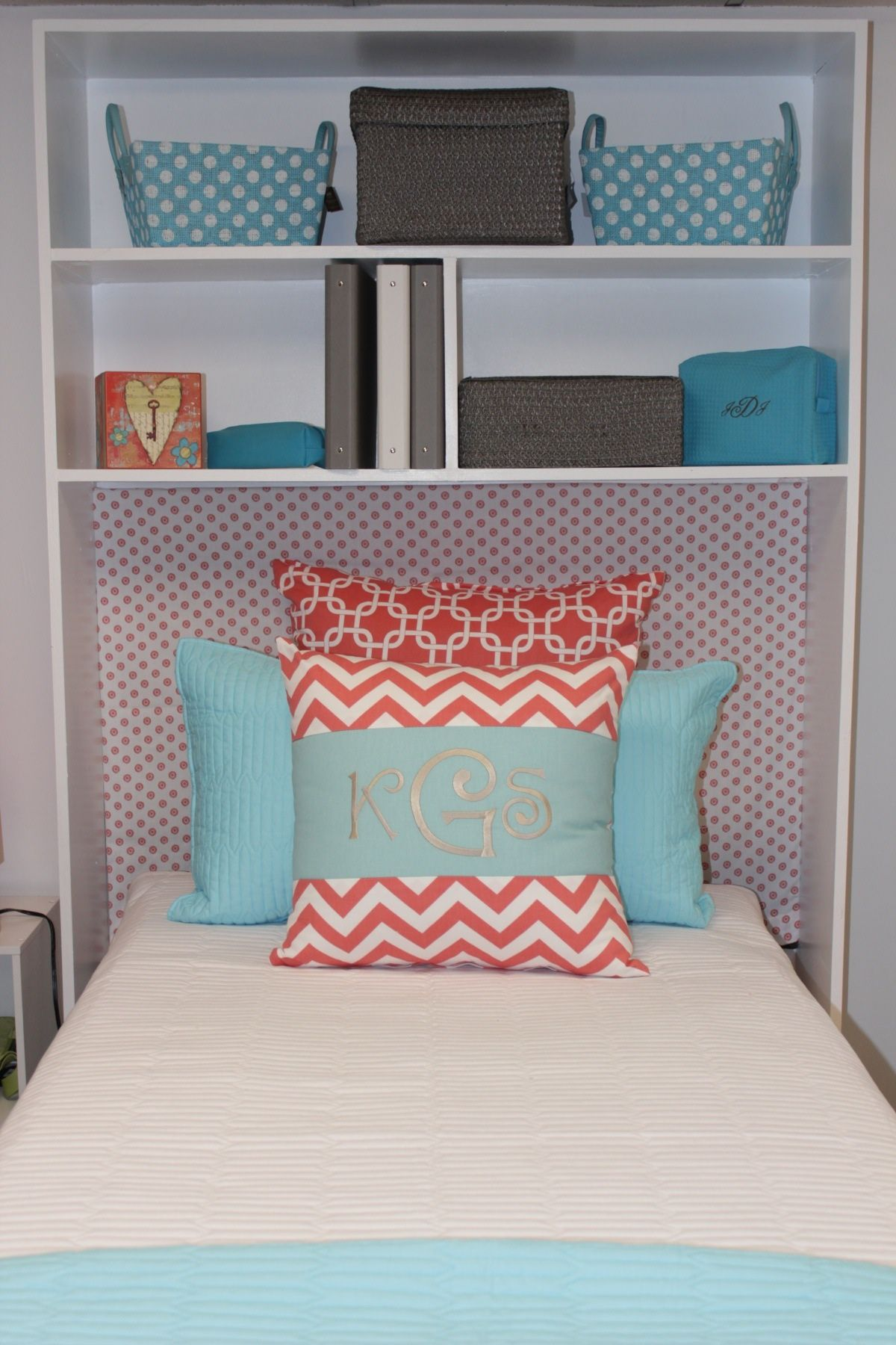 Add Shelves Behind Your Bed For More Organization   Doing The Dorm