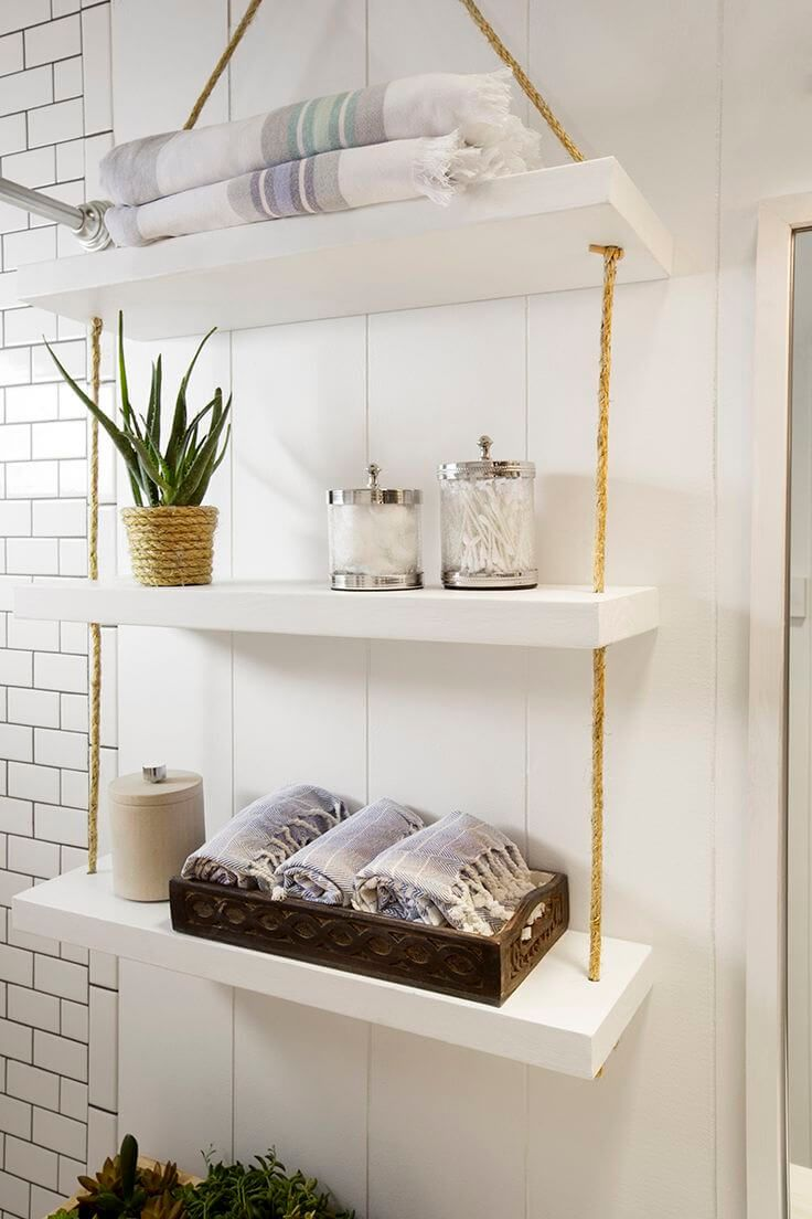Chic Hanging Bathroom Storage Shelves   For The Bathroom In 2019
