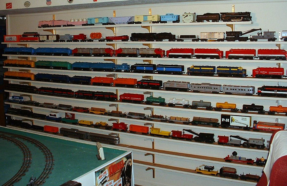 Shelves Of Trains I Think This Is What One Of Our Walls Is Going To