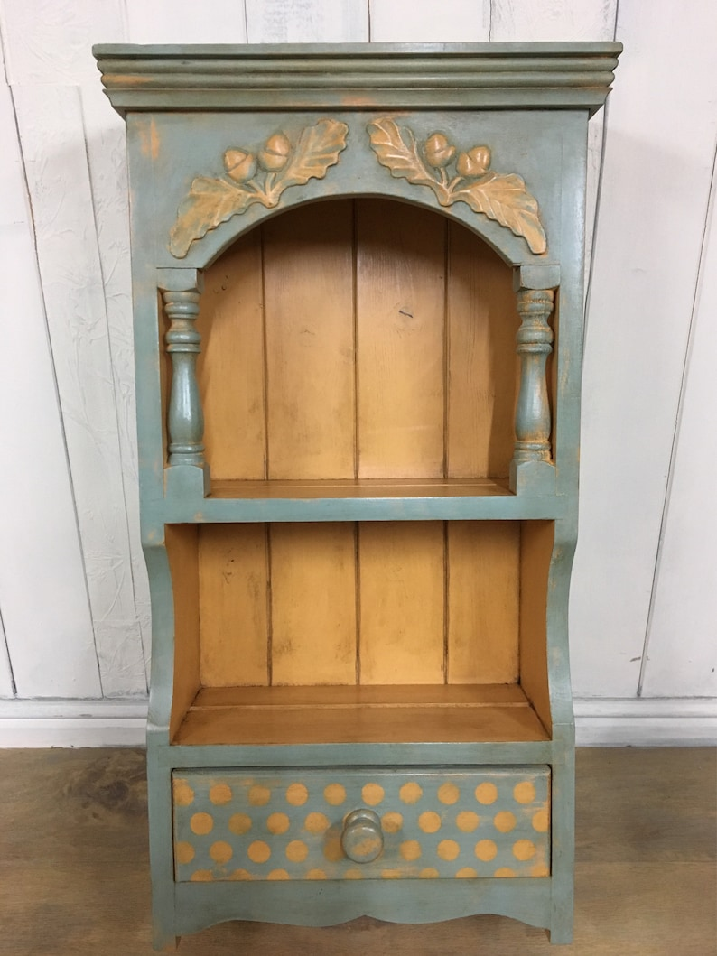 Shelving Unit, Hand Painted, Wall Mounted Shelves, Duck Egg Blue Furniture