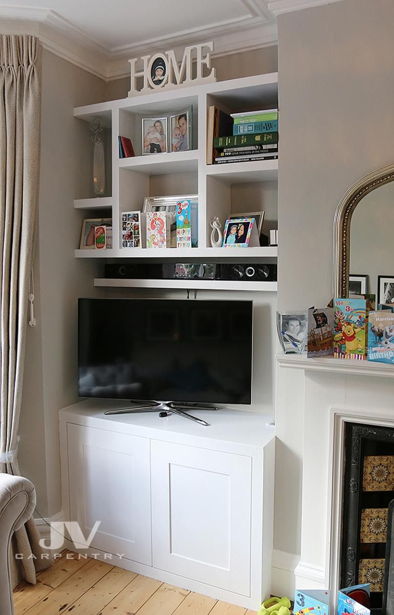This Fitted Alcove Cupboard With Floating Shelves Made For Client In