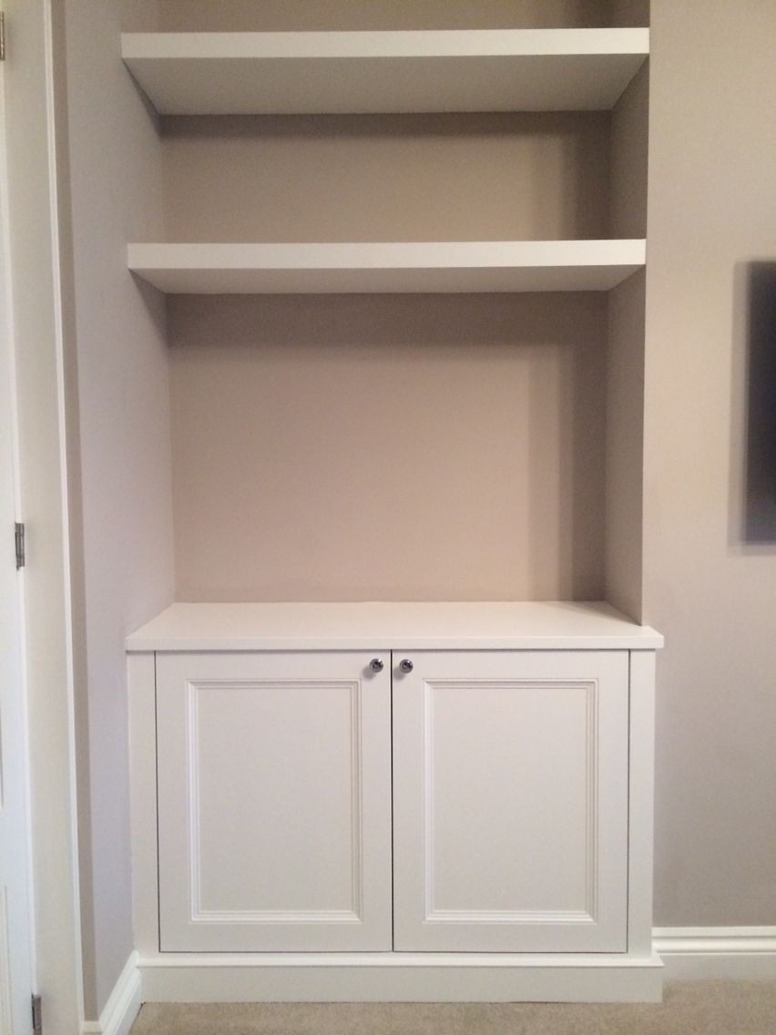 Alcove Shelves Floating Alcove Cupboard With Floating Shelves For