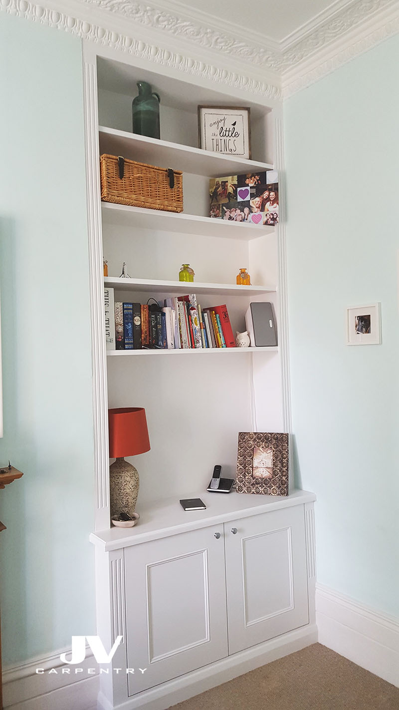 Alcove Cupboards And Shelves, Acton, W3 | Jv Carpentry