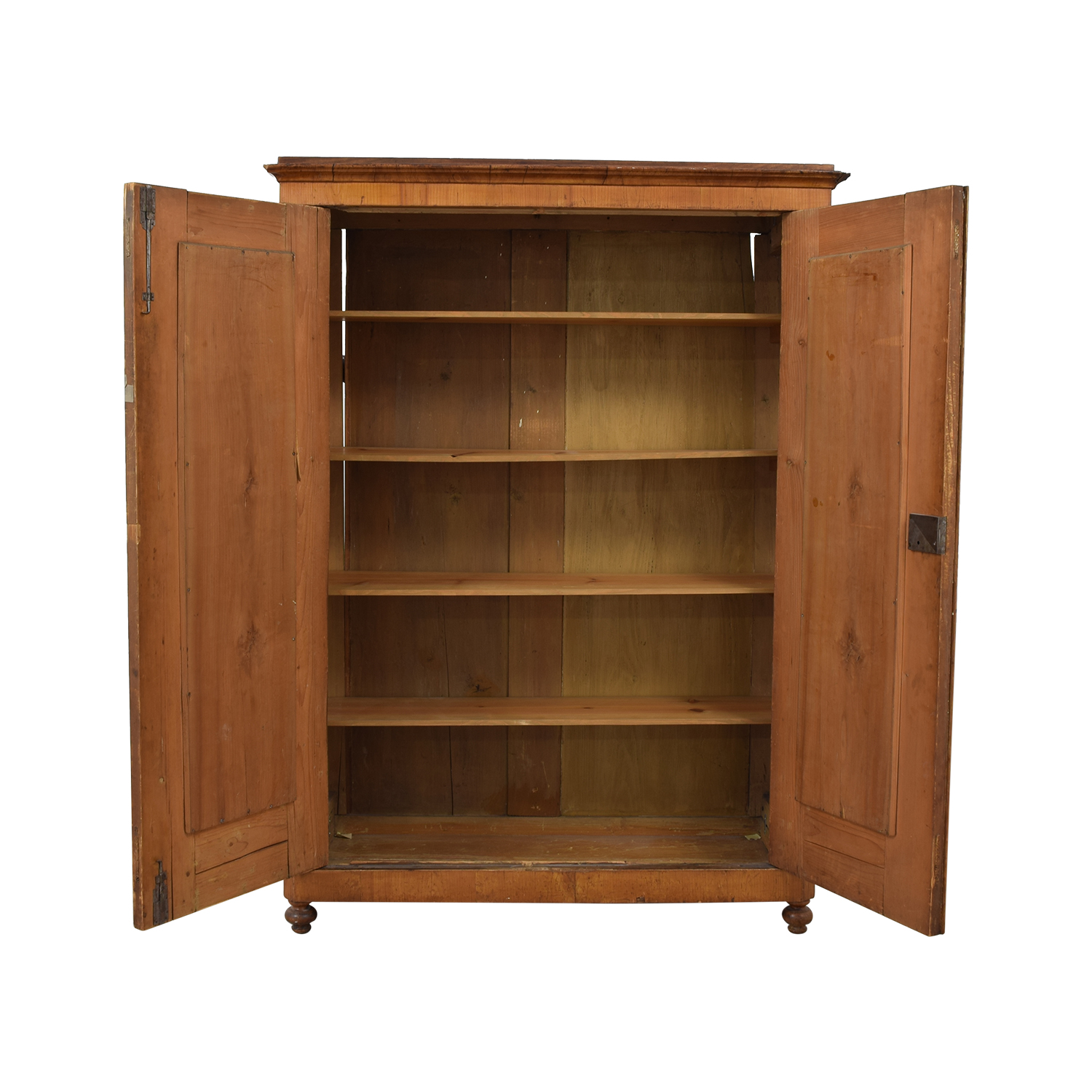 85% Off - Wood Wardrobe Armoire With Shelves / Storage