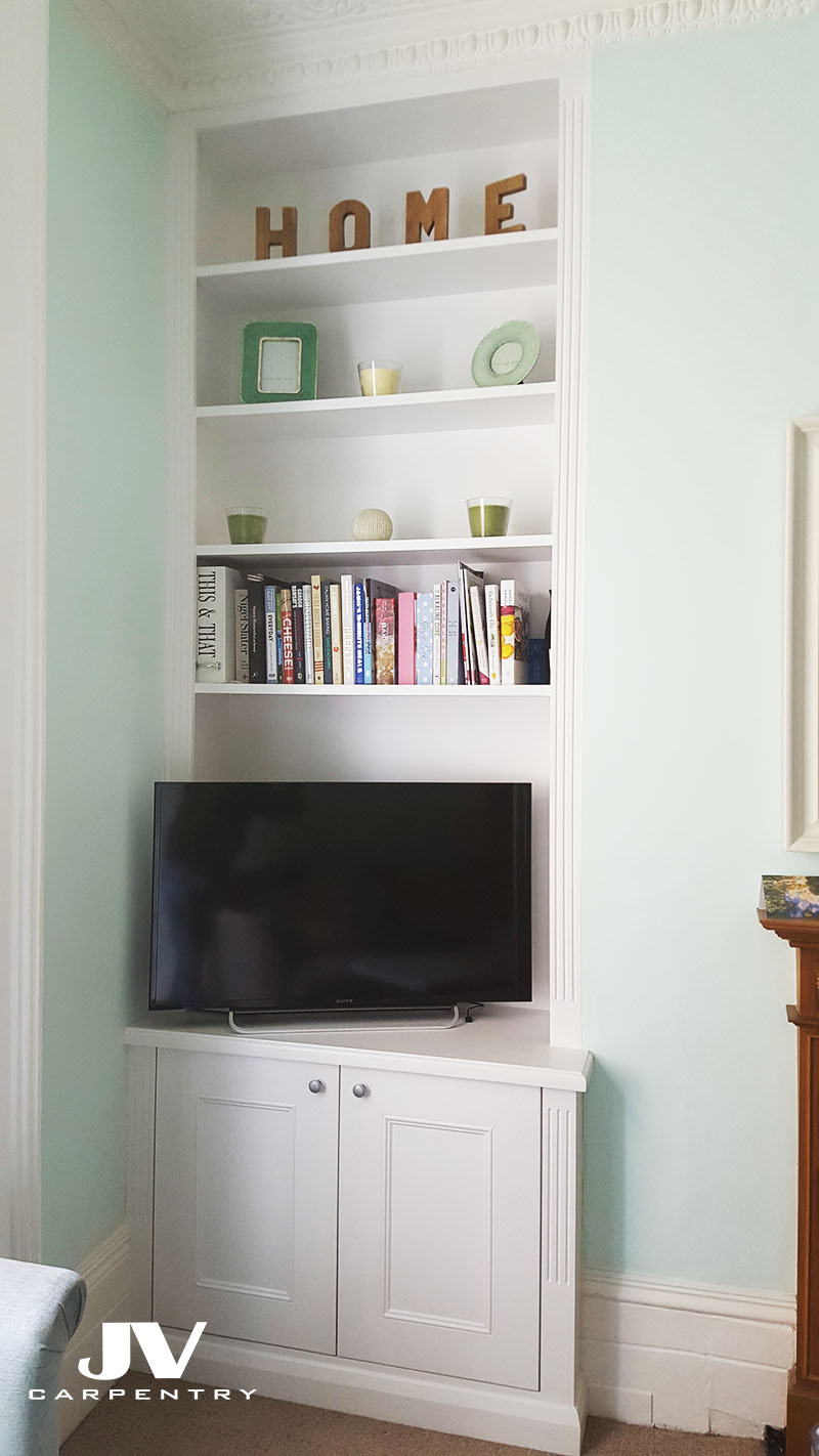 Alcove Cupboards And Shelves, Acton, W3   Jv Carpentry