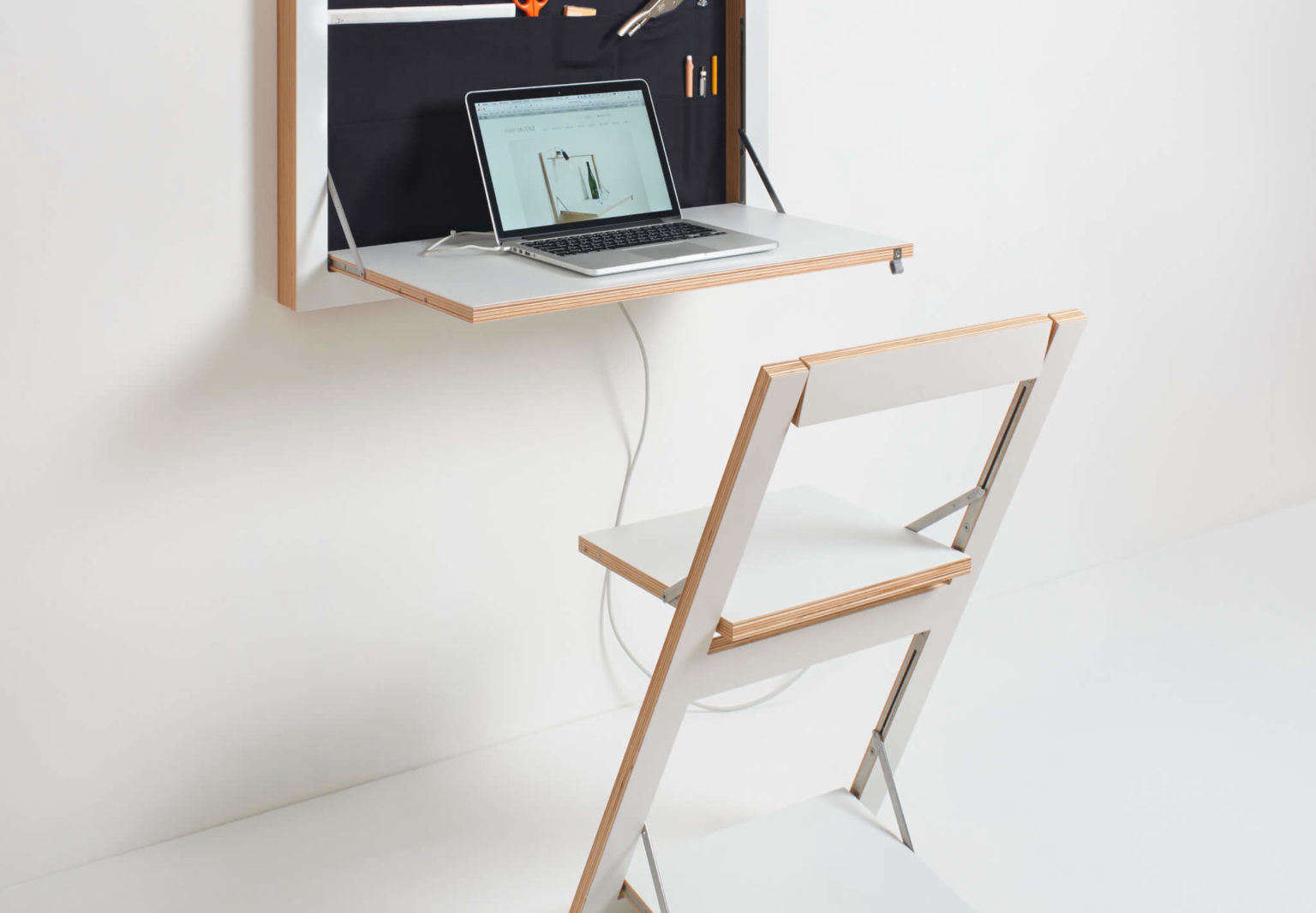 Space-saving Fold-out Tables, Shelves, And Desks From Berlin