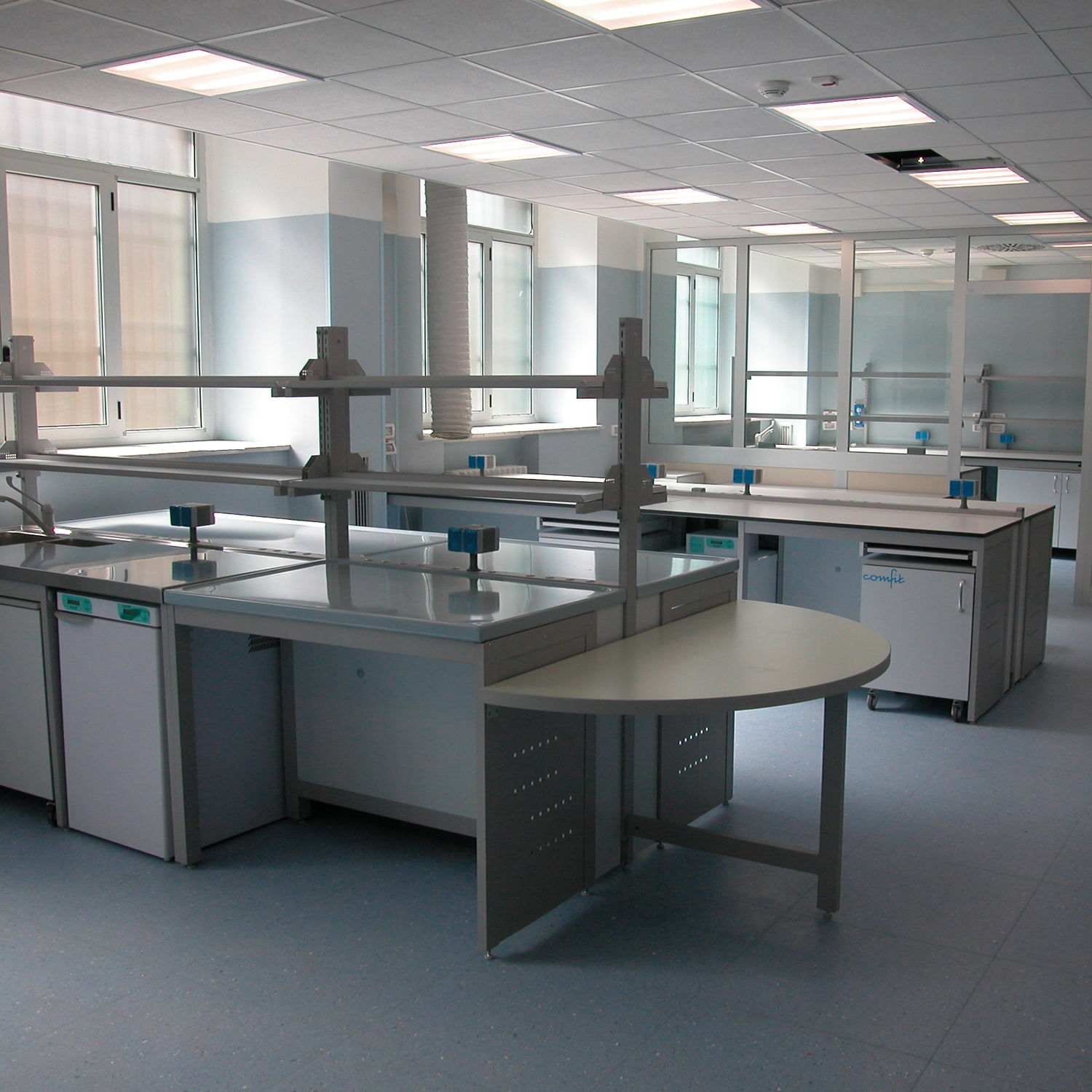 Histopathology Laboratory Bench / Modular / With Sink / With Shelves