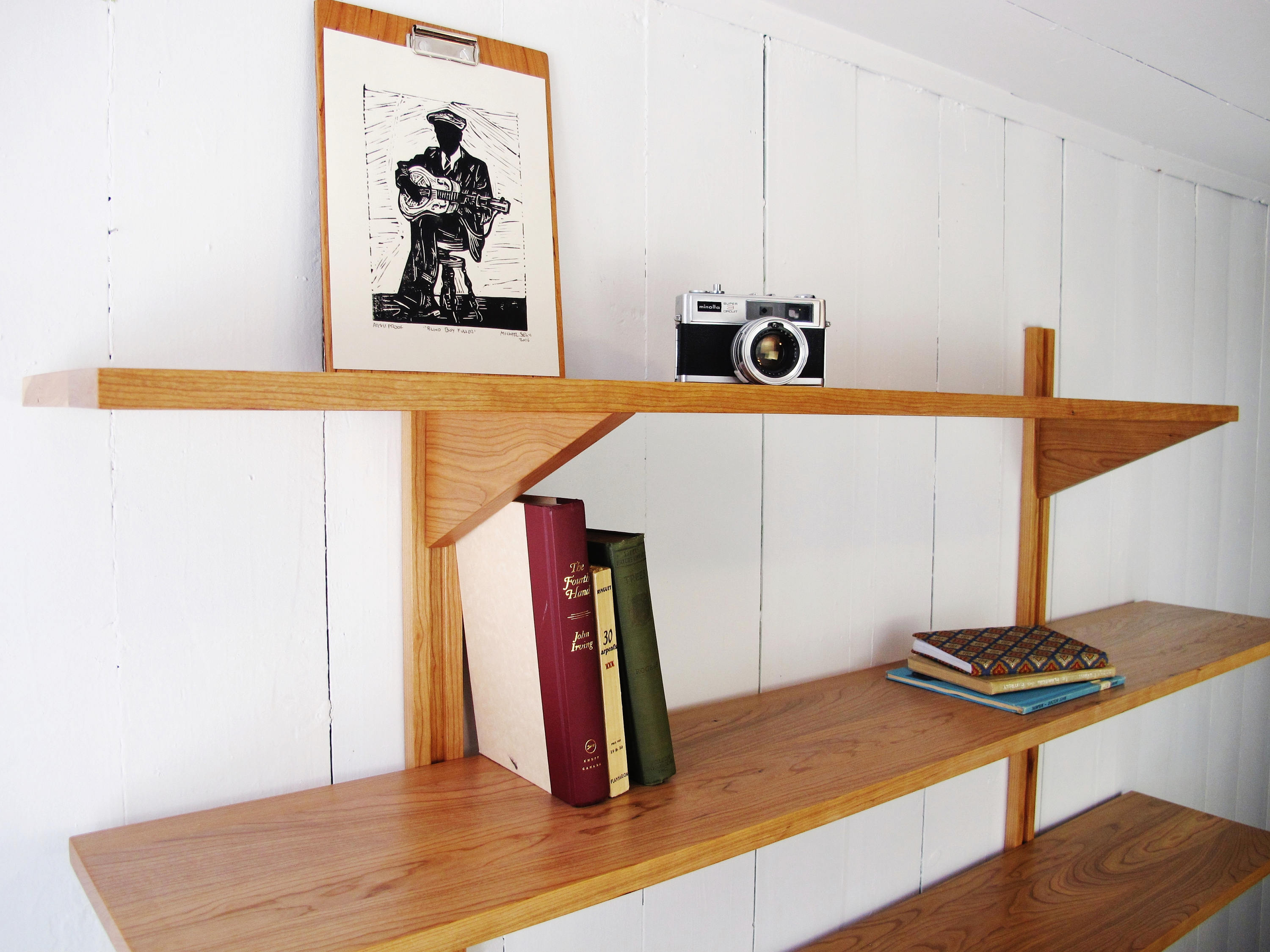 Bookshelves - 2 Shelves - Wall Mounted System - Customizable - Mid-century  Bookcase - Solid Wood - Wall Unit - Scandinavian Style - Modern