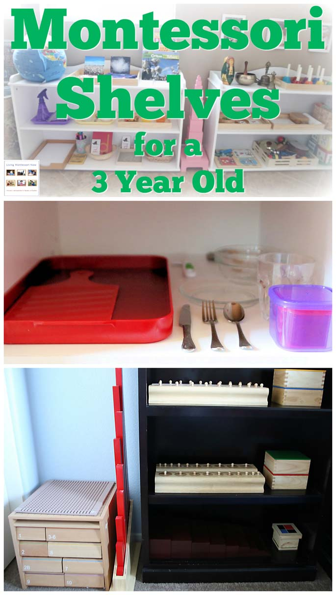 How To Prepare Montessori Shelves For A 3 Year Old - Living