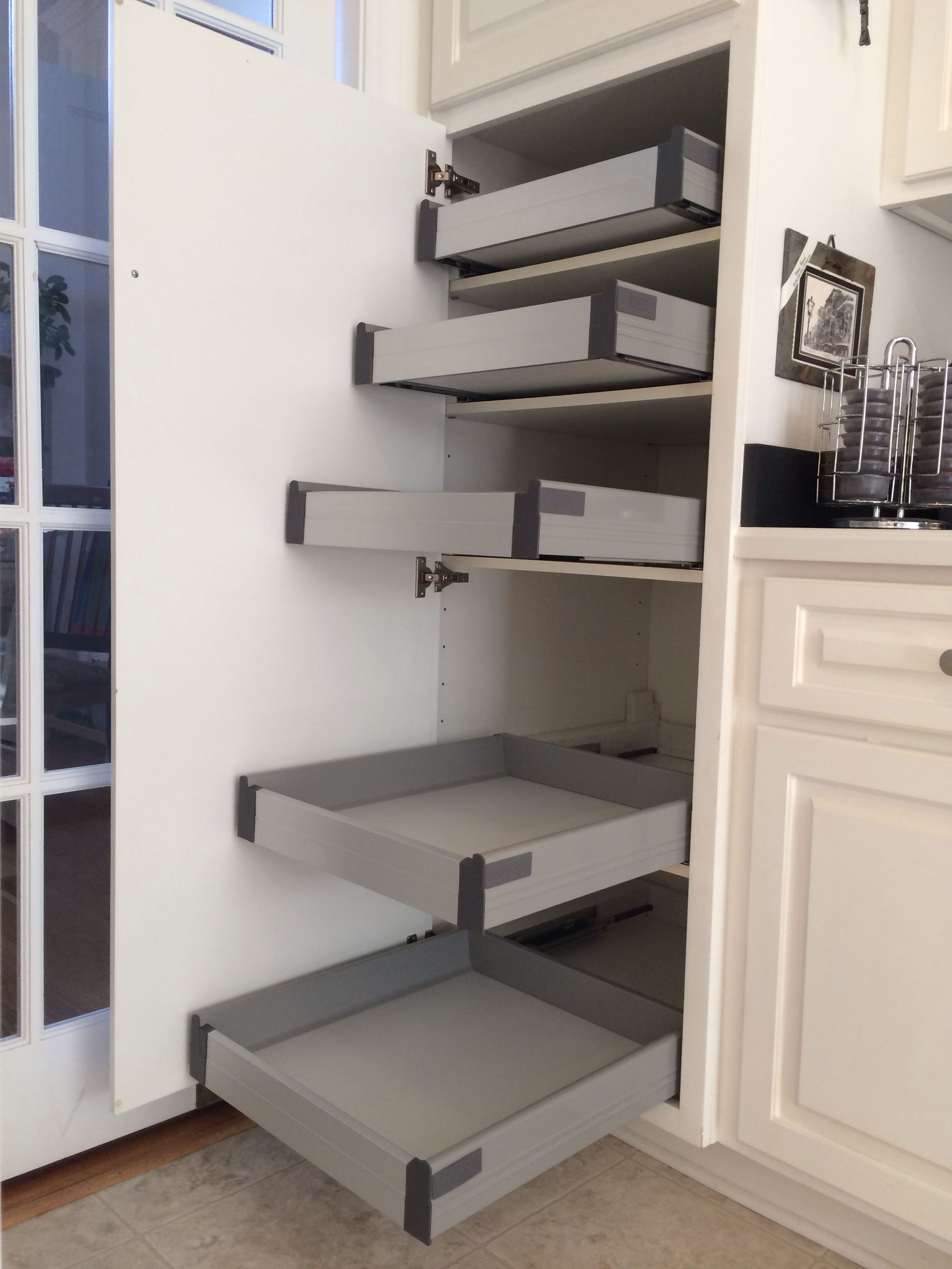 Ikea Rationell Pull-out Shelves (w/ Dampers) Retrofitted To Non-ikea