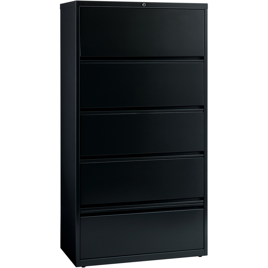 """5 Drawer 36"""" Lateral File With Roll-out Shelves, Lorell 43513"""